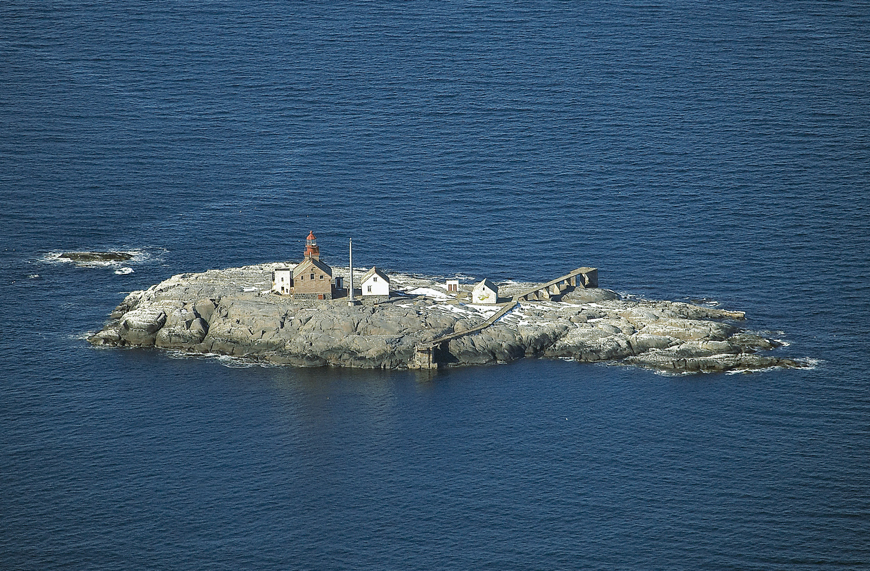 A barren place in The Skagerrak forecourt. Torbjørnskjær Lighthouse seen from the south.