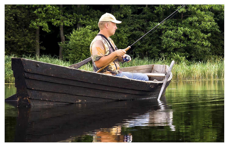 Fishing in the lake Vansjø
