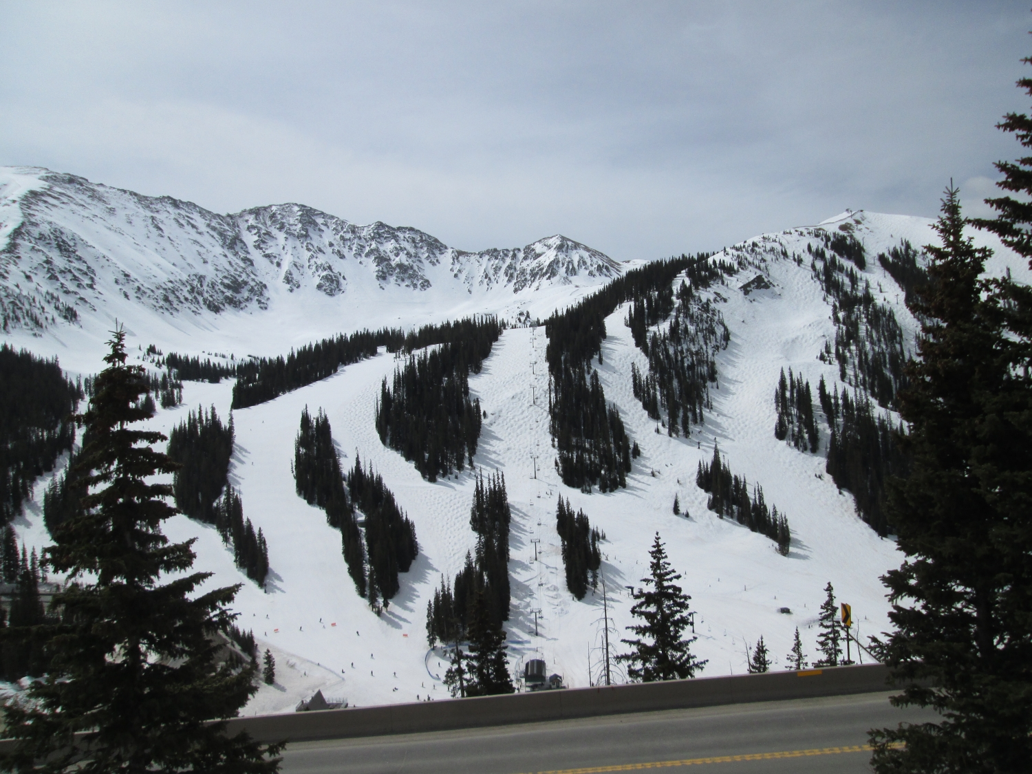 Arapahoe Basin with 'white' snow conditions