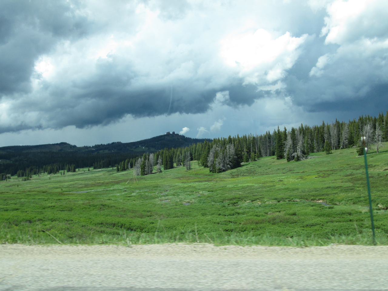 Snowcover on the Rabbit Ears Pass plateau on June 16, 2015 was limited to very small, scattered patches under trees on north-facing slopes.