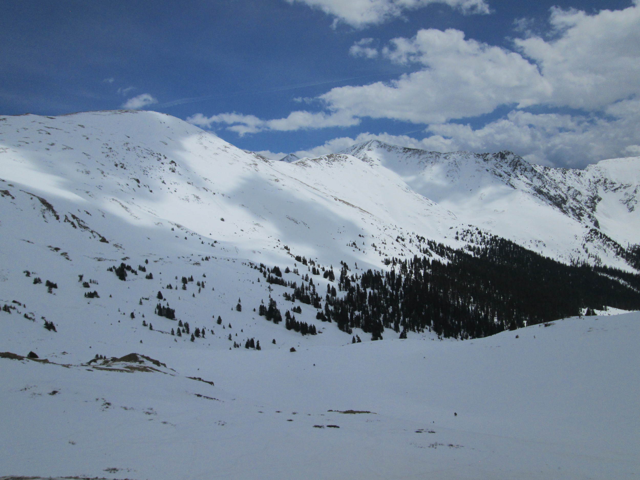 Looking easterly from Loveland Pass on April 22. Snow still covers majority of landscape in the surrounding area.
