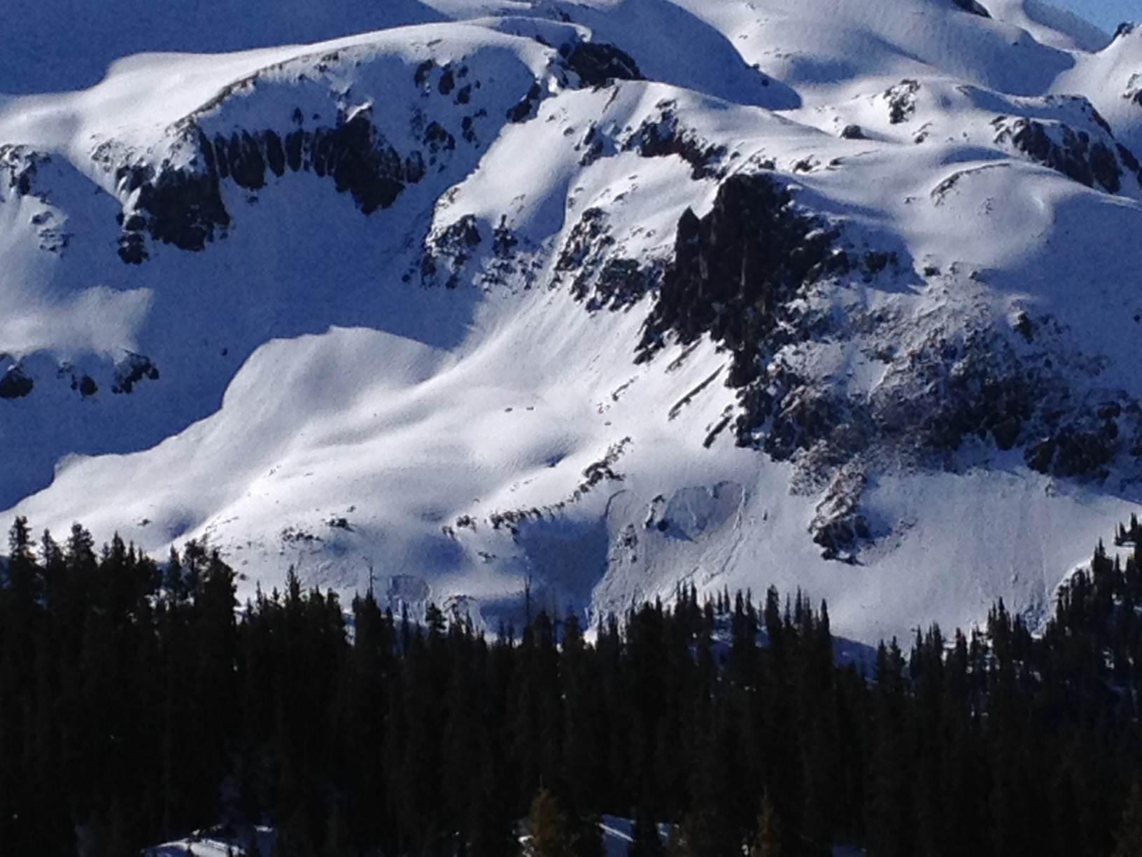 SBB on May 12, 2016.  A number of shallow wet slab avalanches ran Thursday, May 12, on the near-surface D5/D6 dust layer.  This elevation band, treeline and slightly above, likely received rain during the precipitation events the first part of last week.