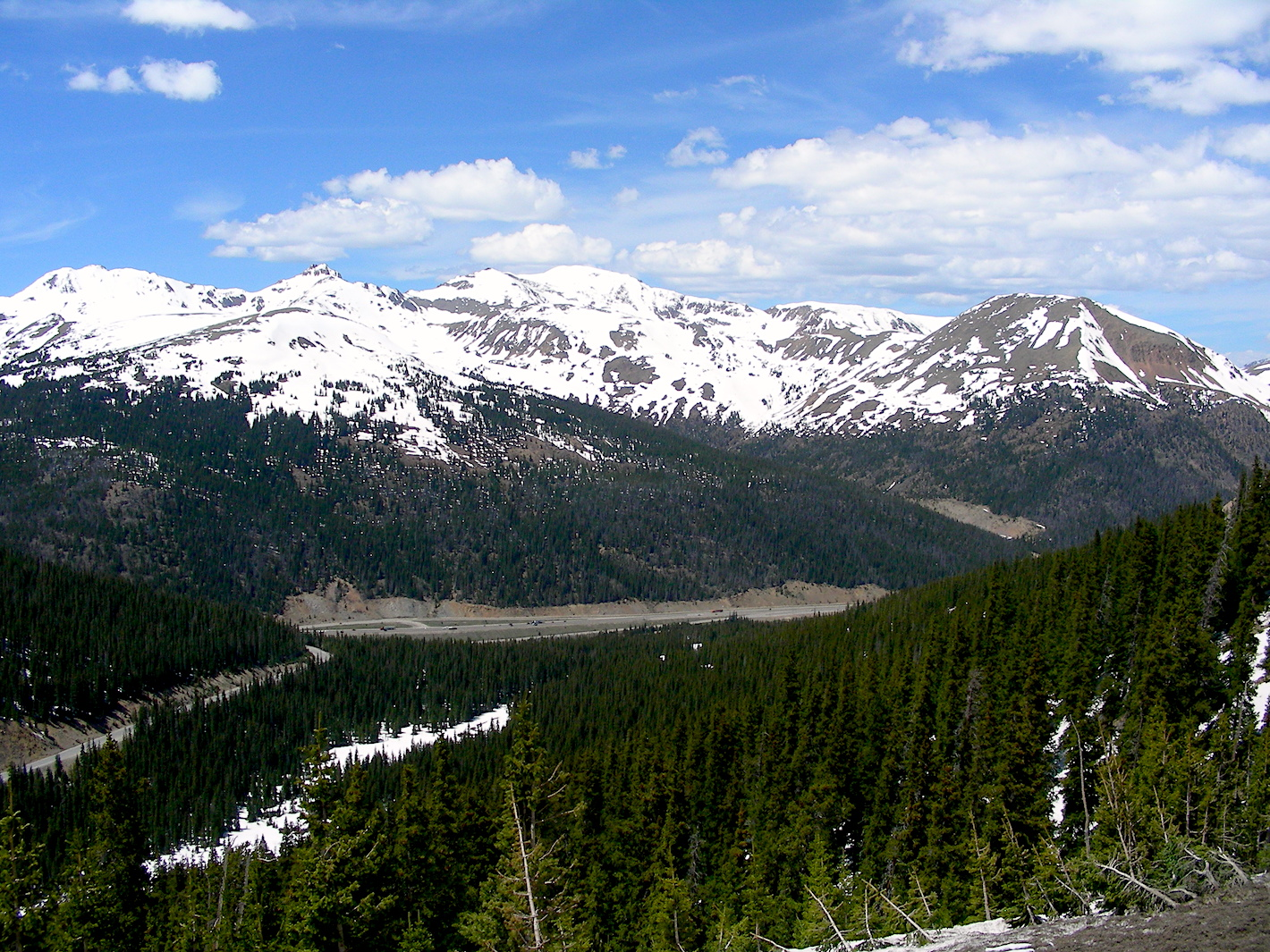 Loveland Pass looking north on June 4.