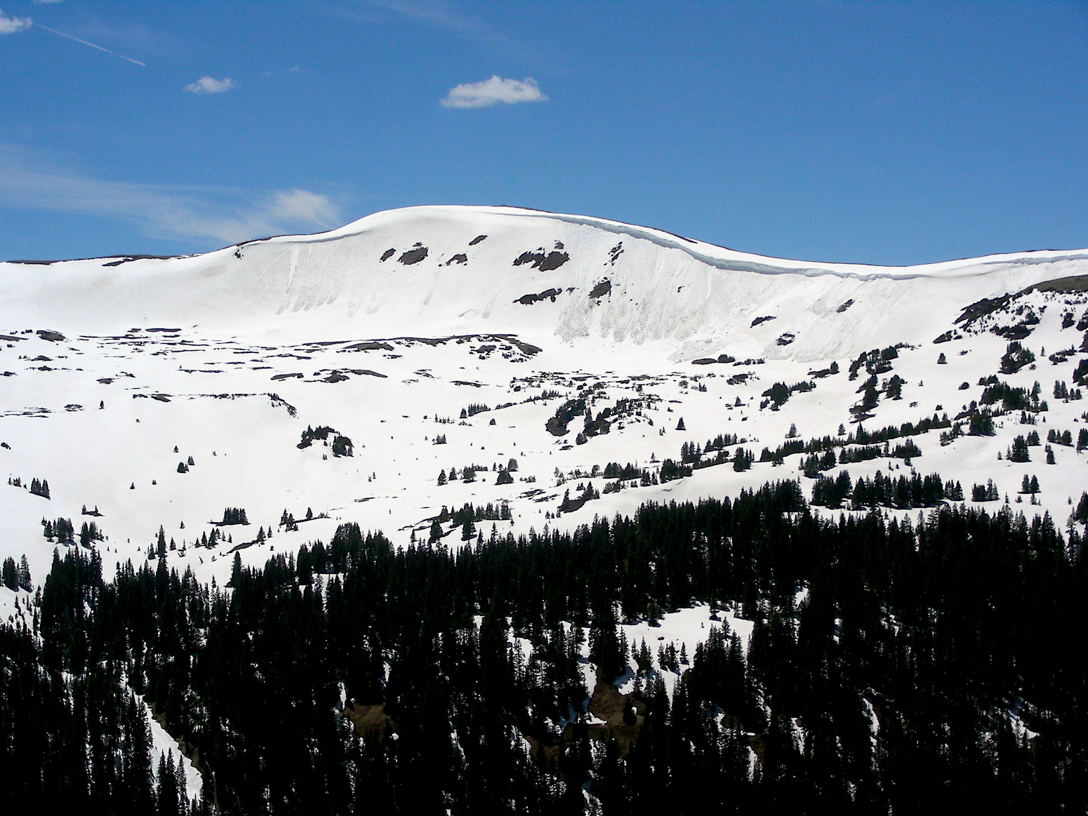 Loveland Pass on June 4.Higher elevations are still holding onto a good amount of snow.