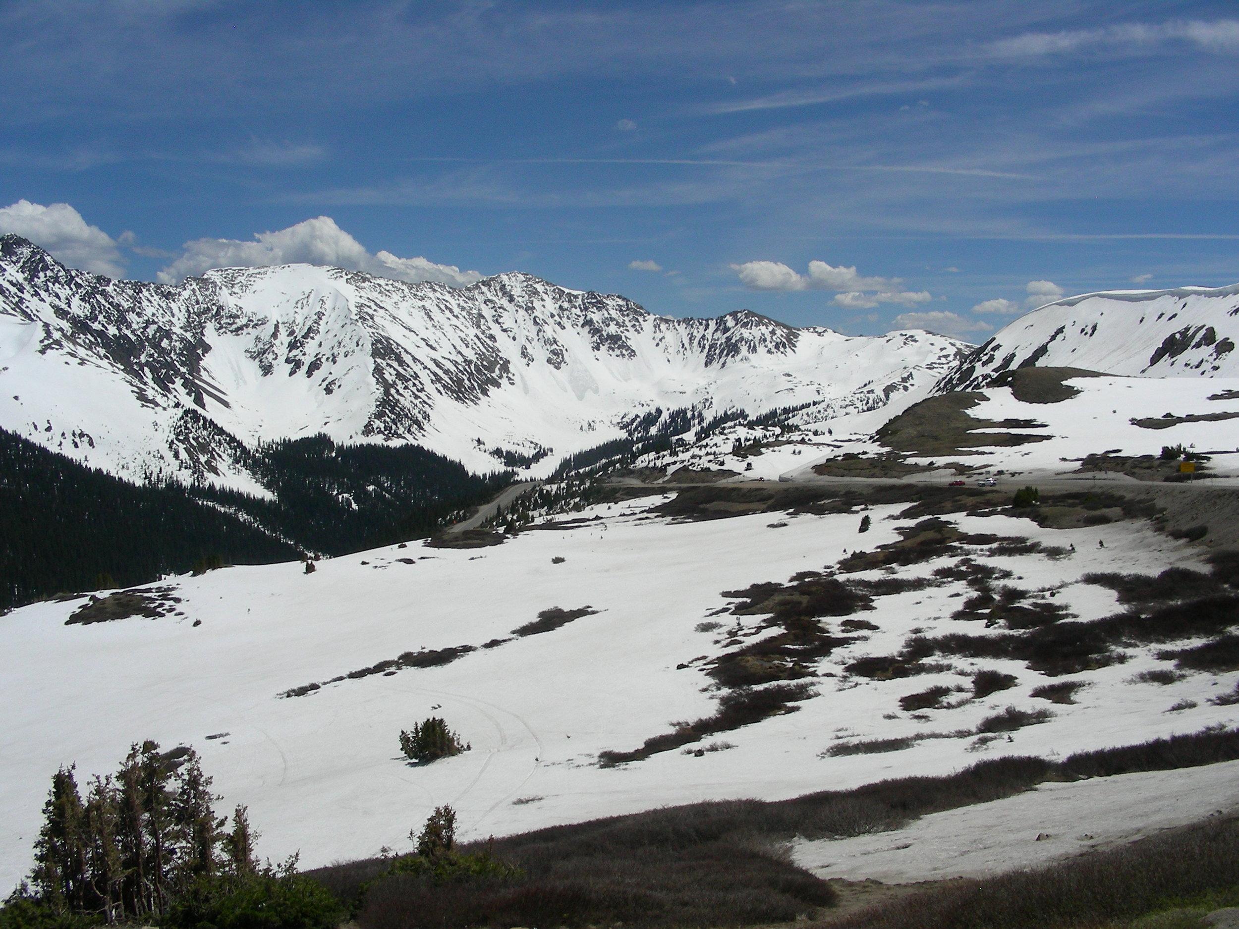Loveland Pass looking south towards Arapahoe Basin Ski area.
