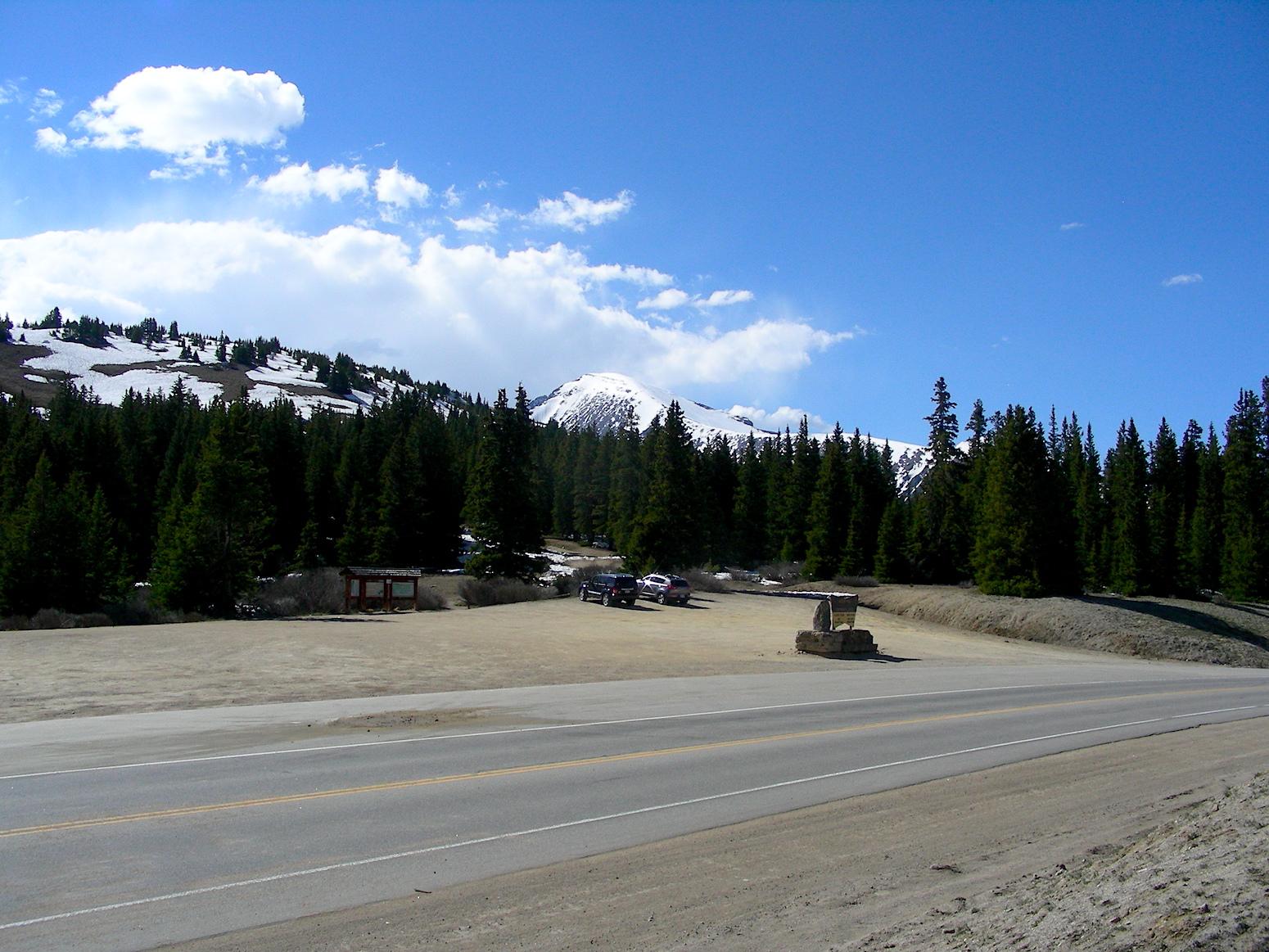 Looking across highway 9 at Hoosier Pass.