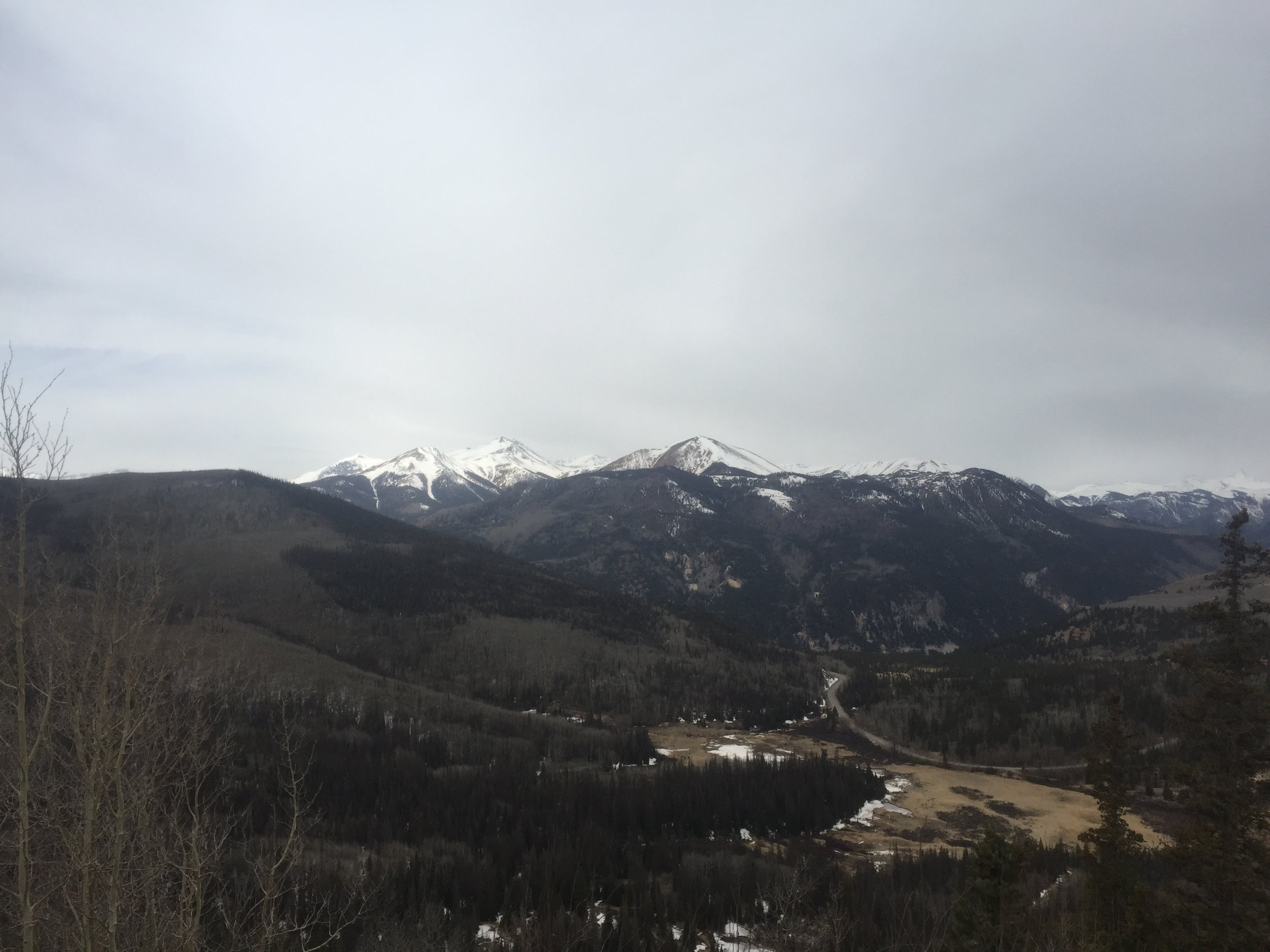 Photo looking at the San Juan Mts toward Lake City.