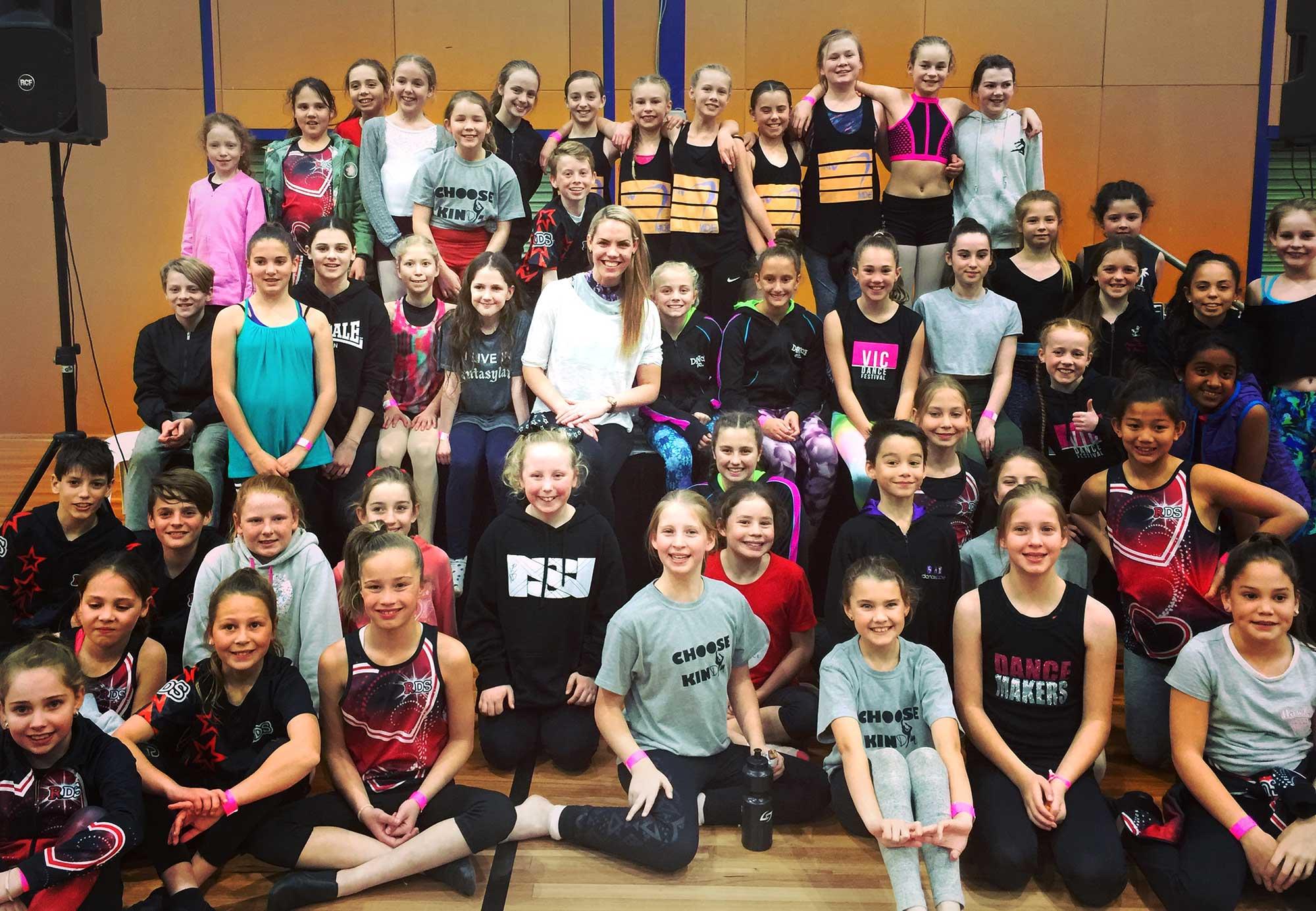 Elysia's Junior Workshop at Victorian Dance Festival