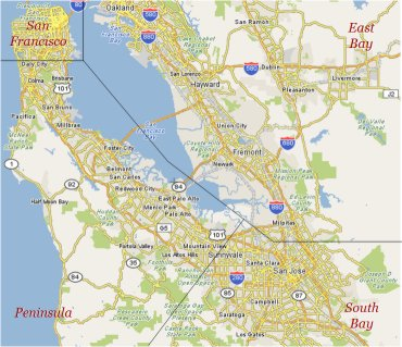 Image of Bay Area Map