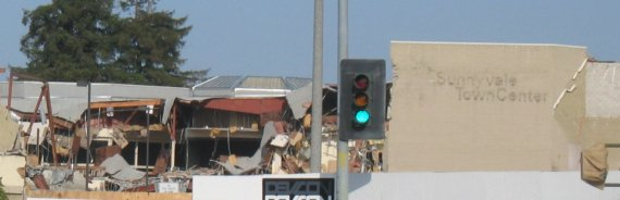 Image of Sunnyvale Town Center Demolition 1