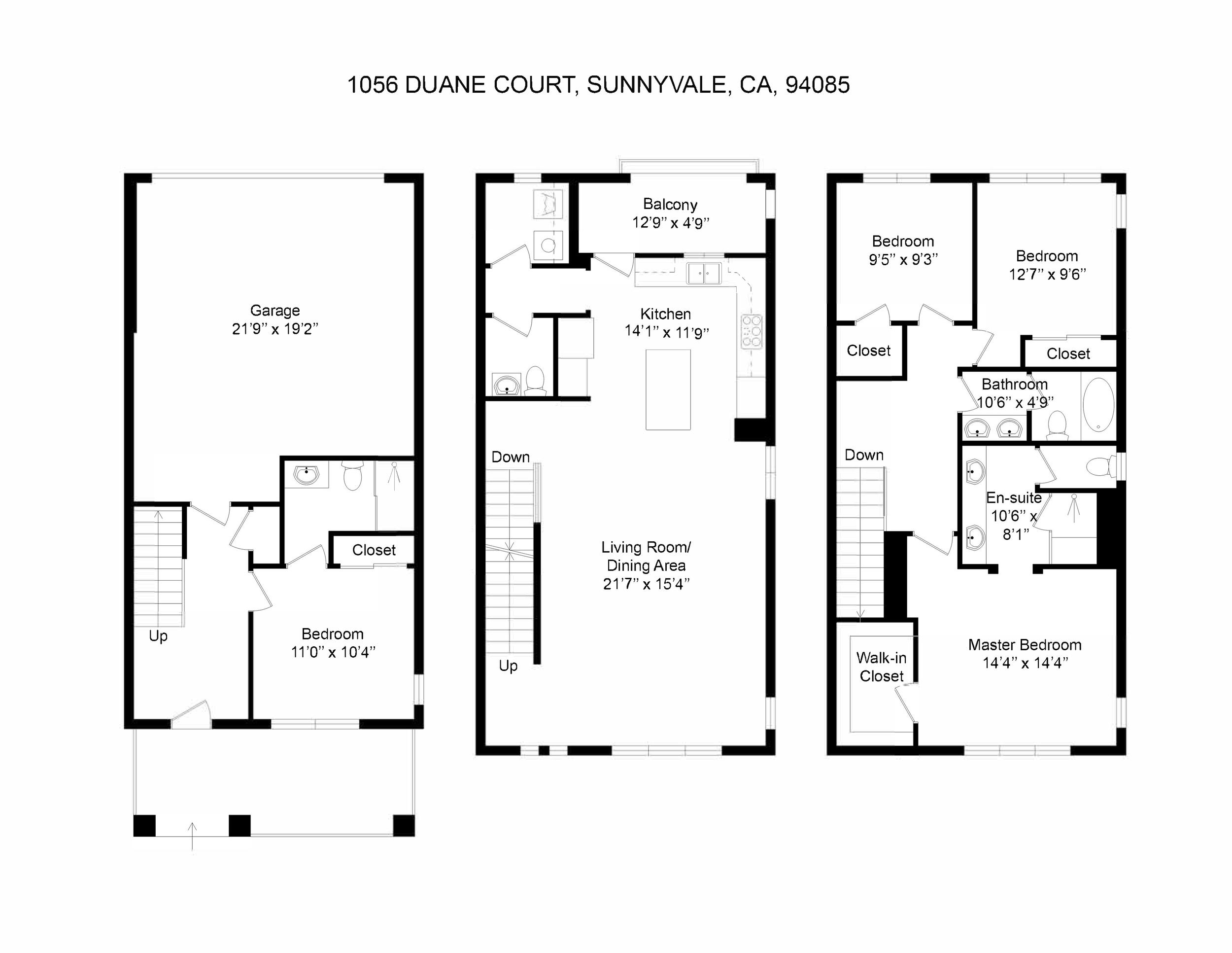 Floorplan- 1056 Duane Court, Sunnyvale, CA, 94085_2D.png