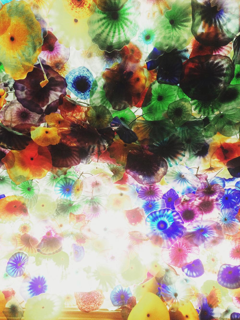 bellagio hotel colored glass ceiling.JPG