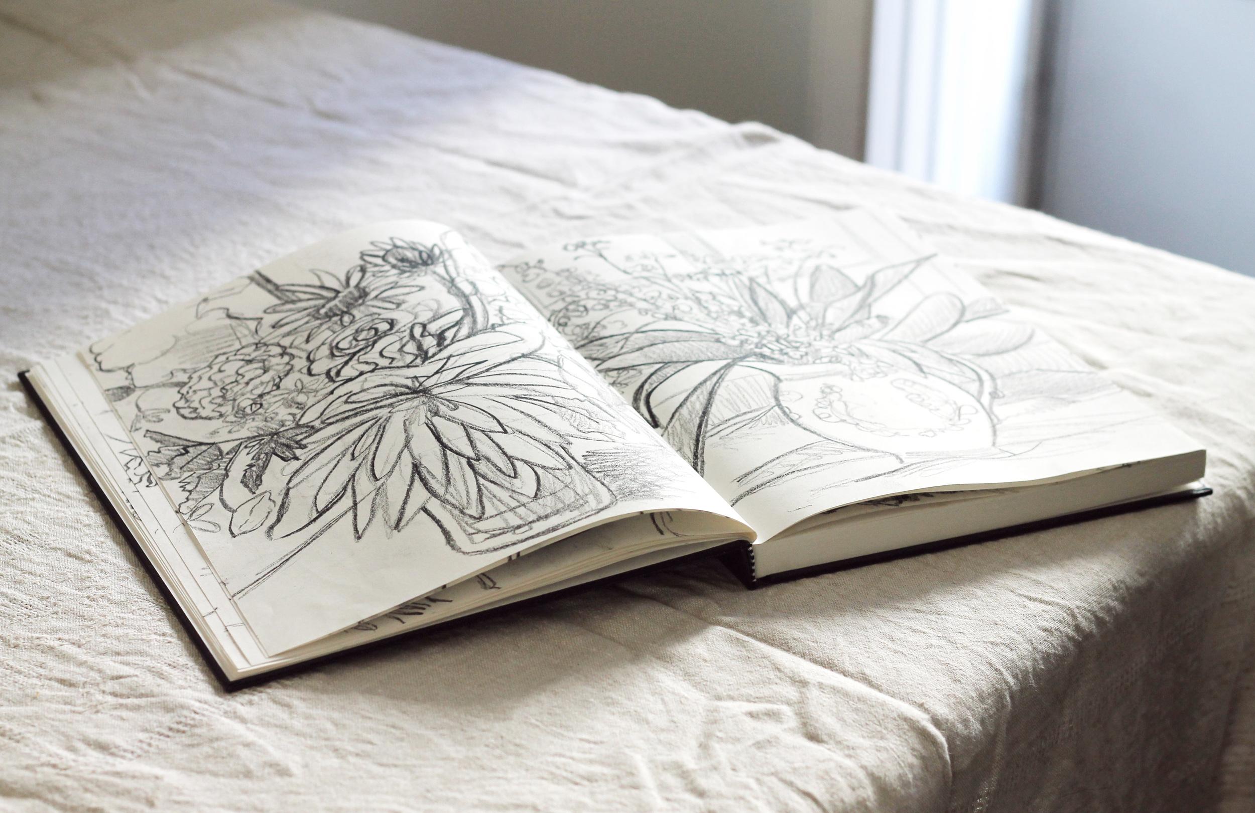 sketchbook in full bloom   via: bekuh b
