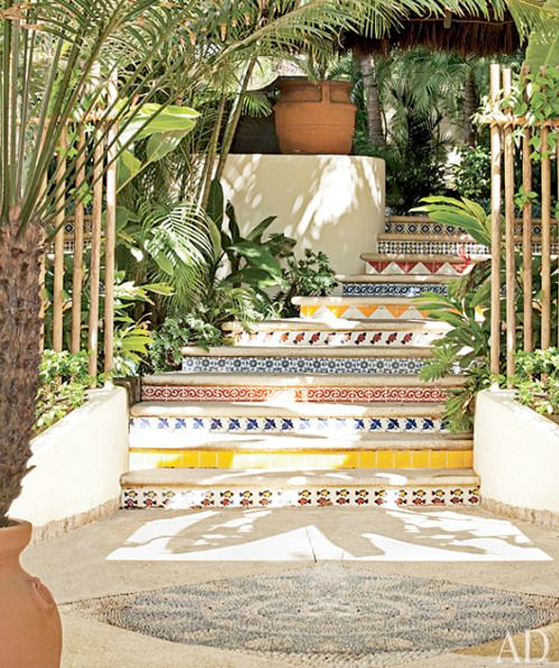 patterned stairs in mexico