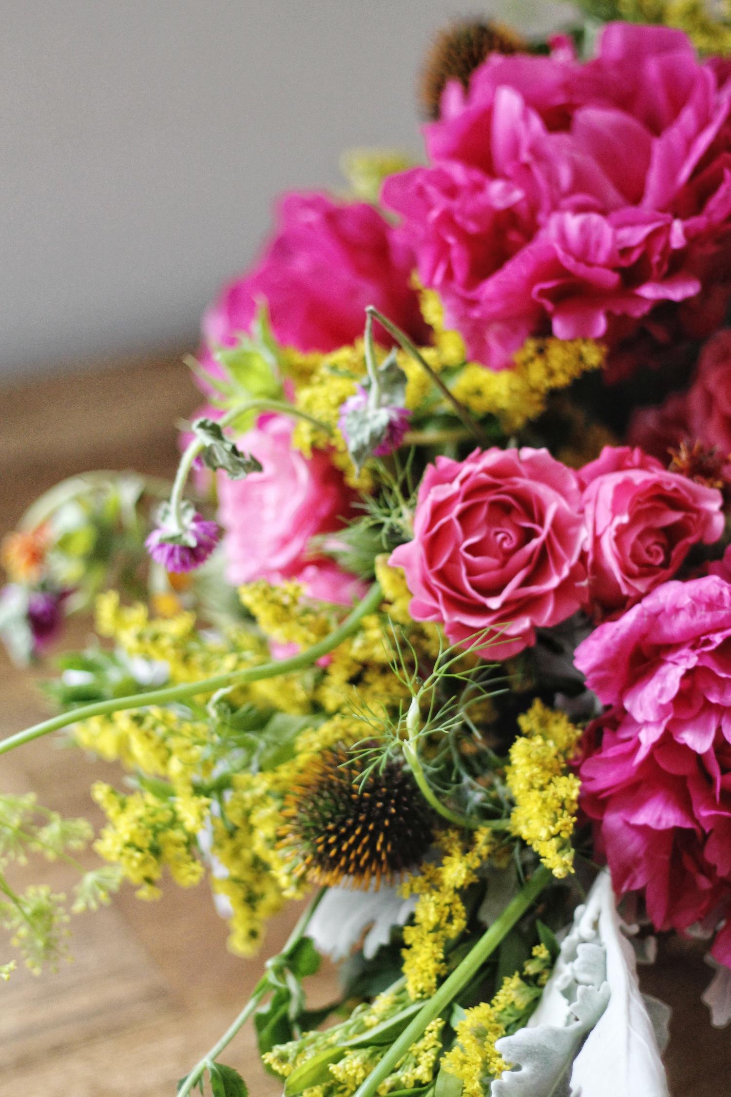 magenta + yellow blooms | via: bekuh b.