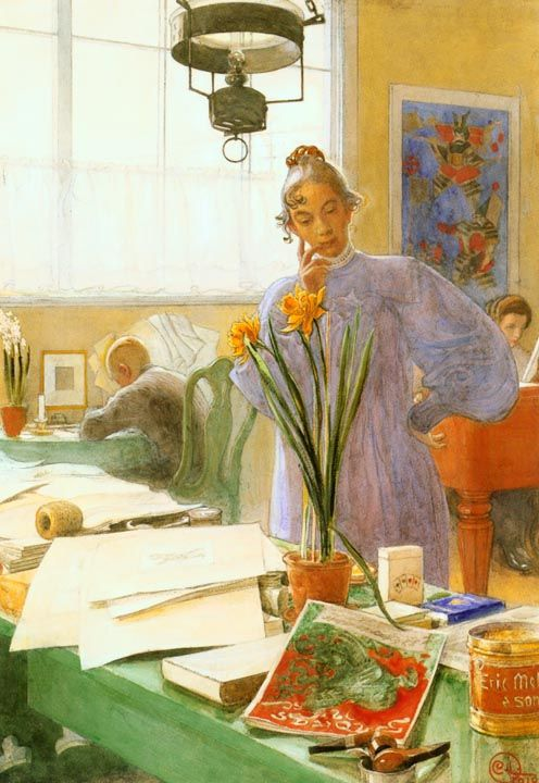 interior crush: karin larsson painted by her husband carl larsson | image via: chatham st. house