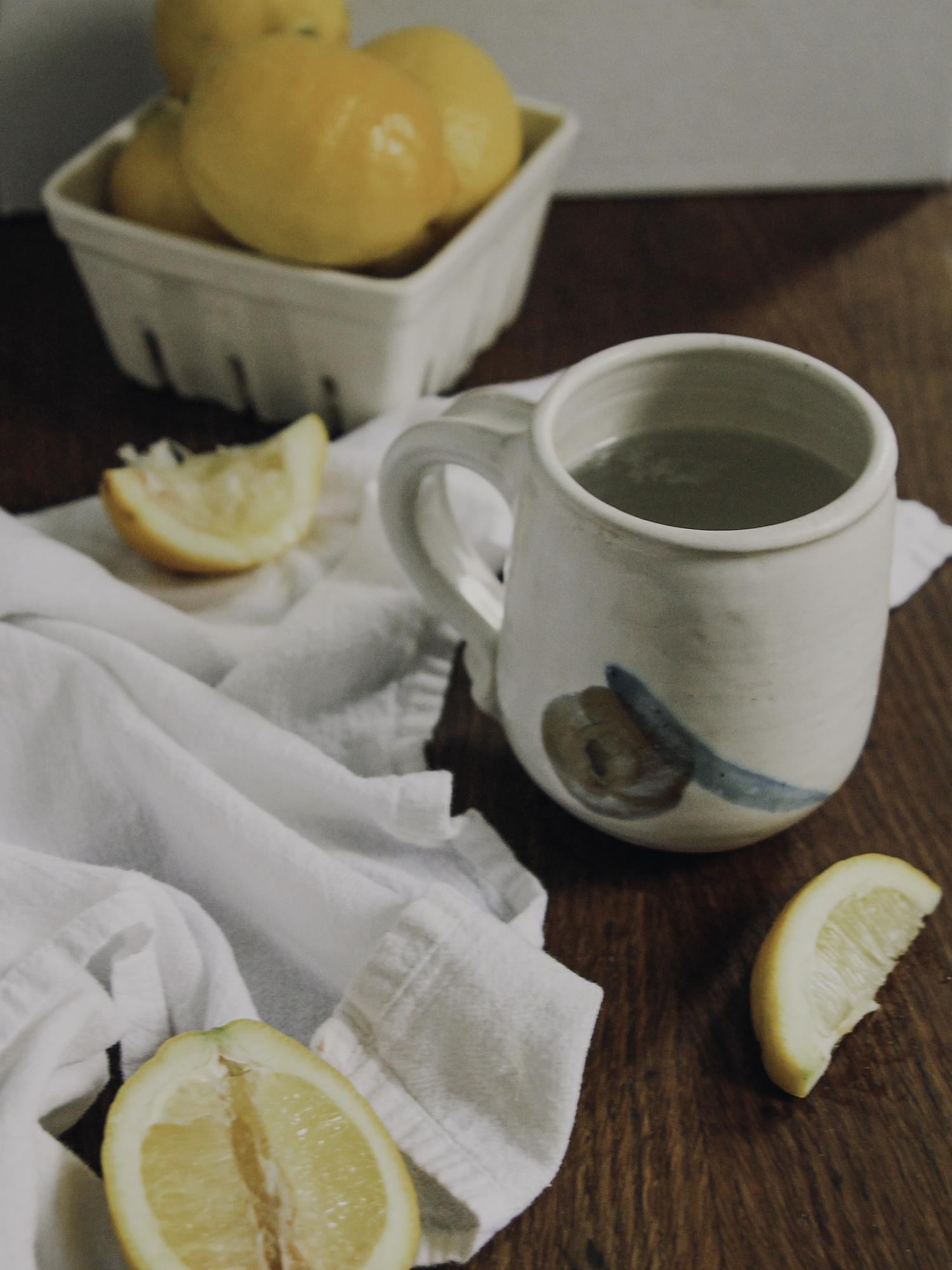 kicking caffeine | warm lemon water trick | via: chatham st. house