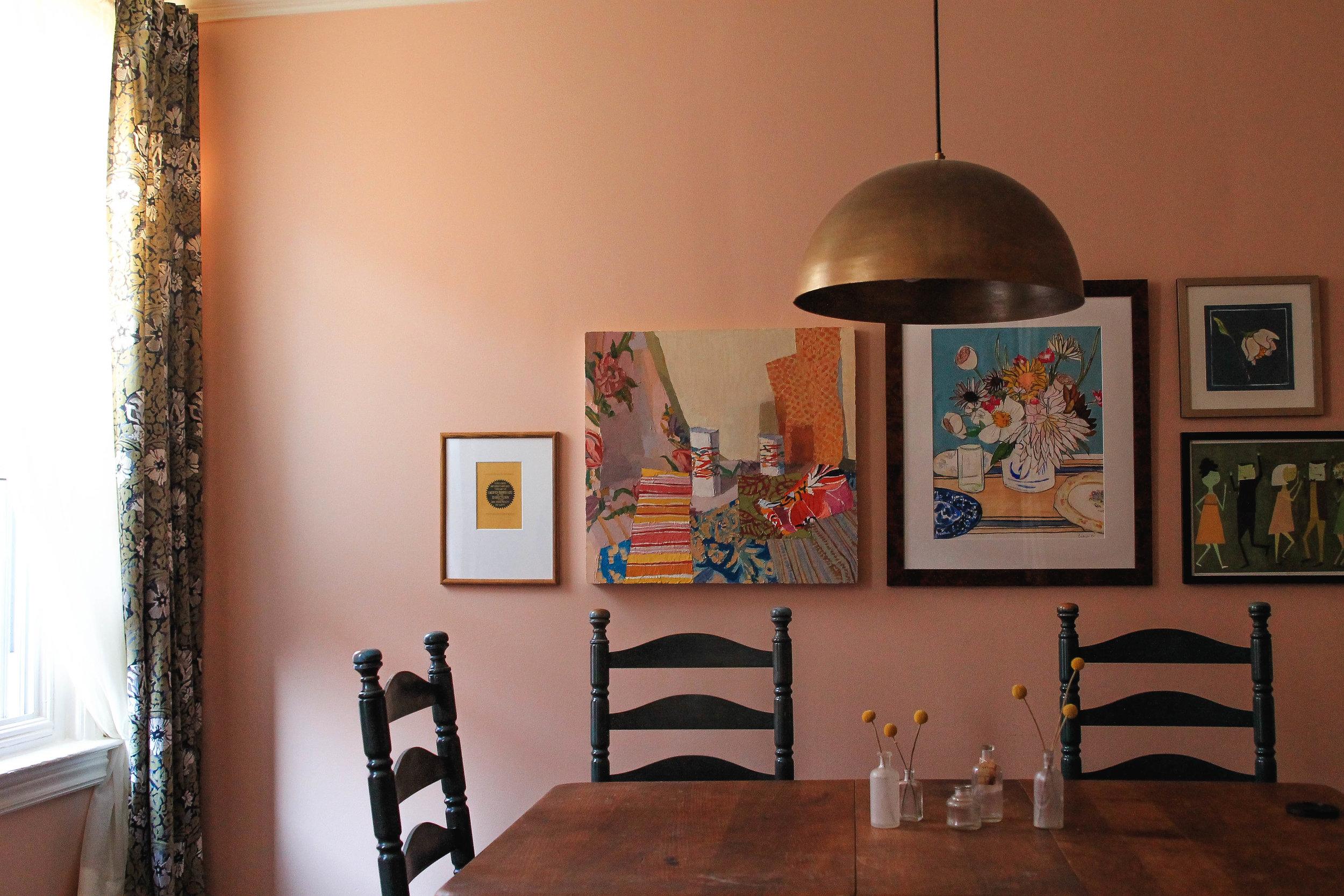 $30 diy dining room light | via: chatham st. house