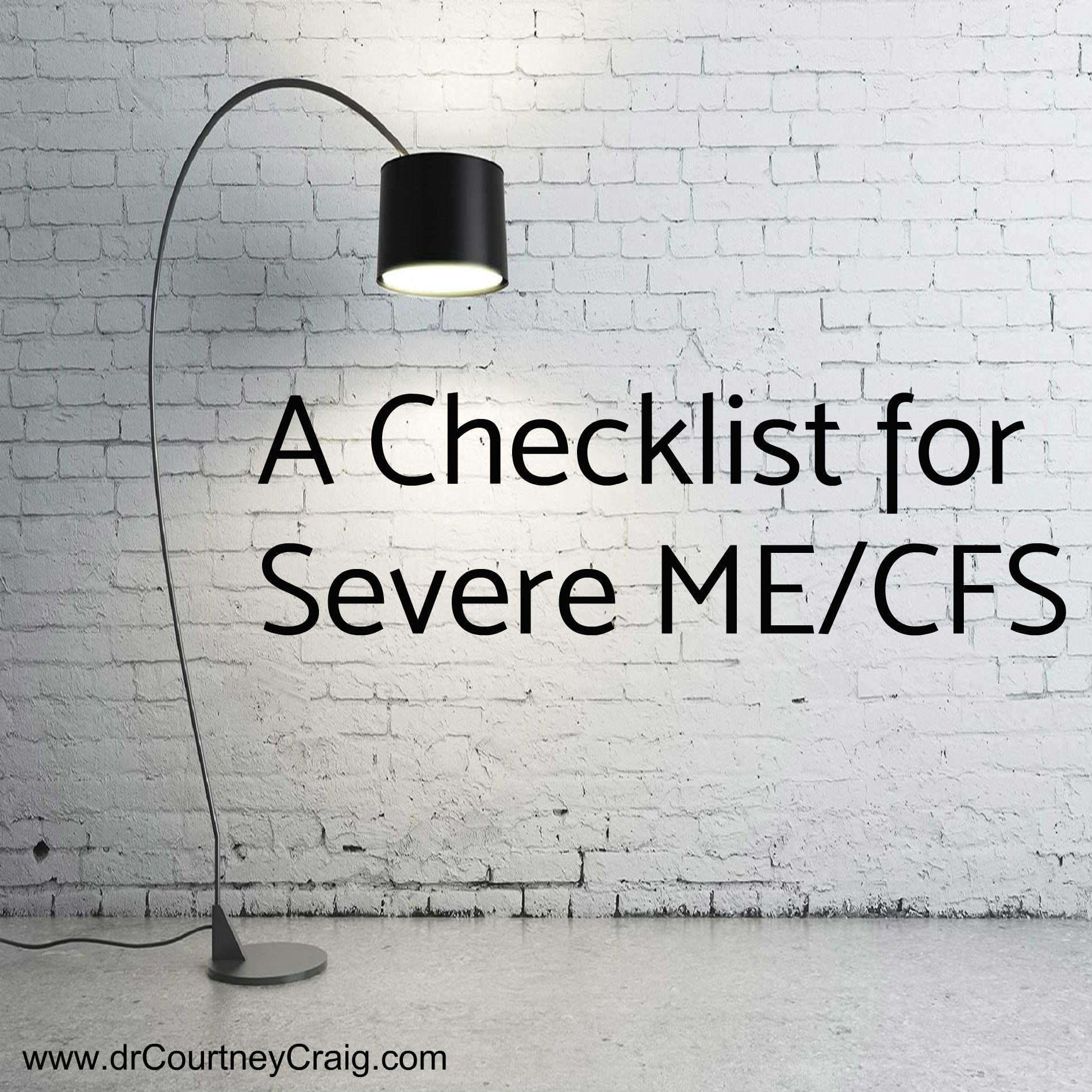 Patients with severe ME/CFS have special nutritional needs as well as common sense health requirements due to chronic bed rest and immobilization.