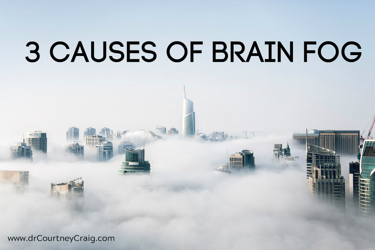 What causes brain fog associated with chronic fatigue syndrome and fibromyalgia?