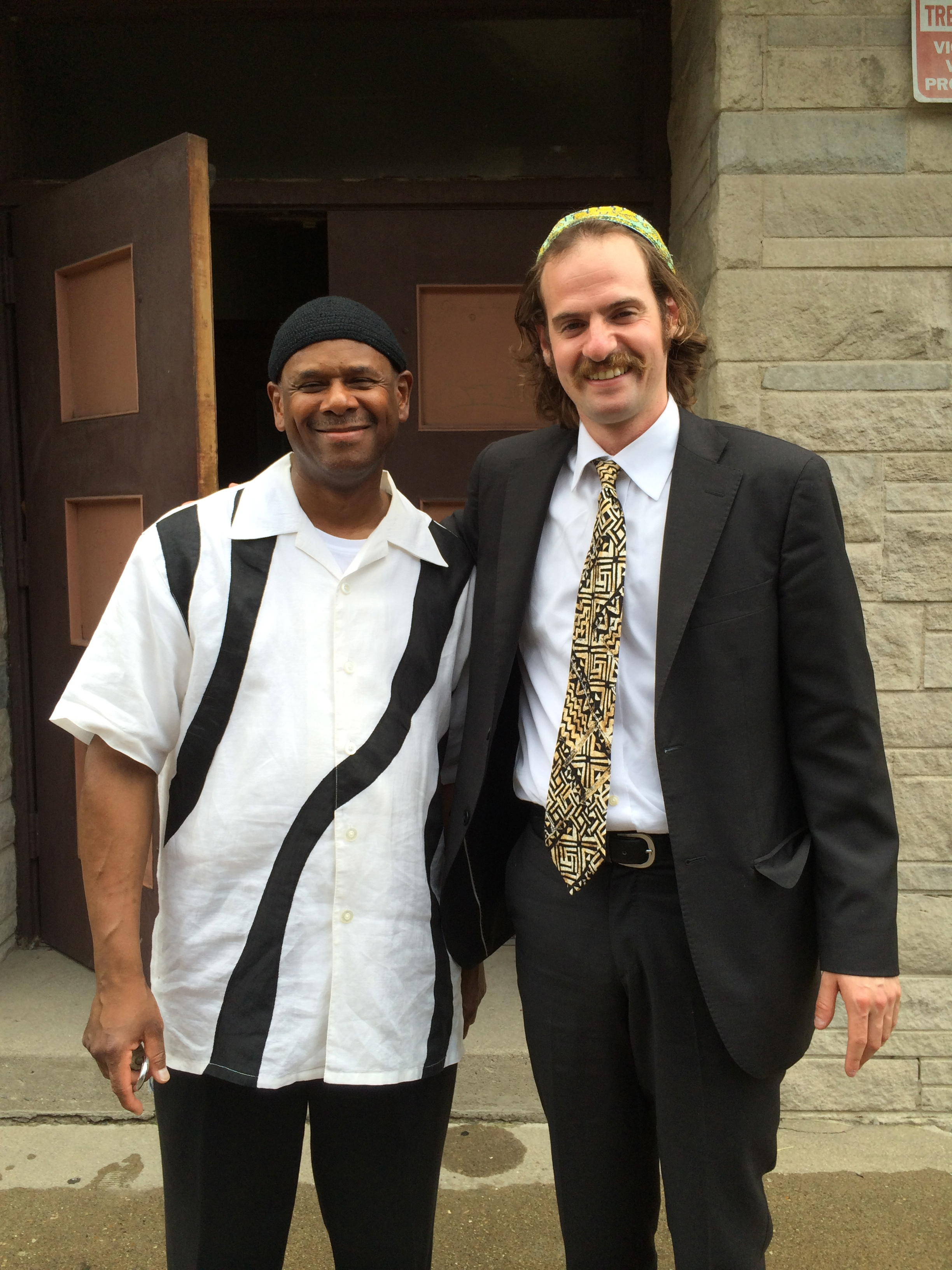 Congregant & Music Director Nashone Yehudah & I at  Beth Shalom B'nai Zaken Ethiopian Hebrew Congregation     6/28/14 .  A  Congregation Am Yisrael  Sponsored Trip !
