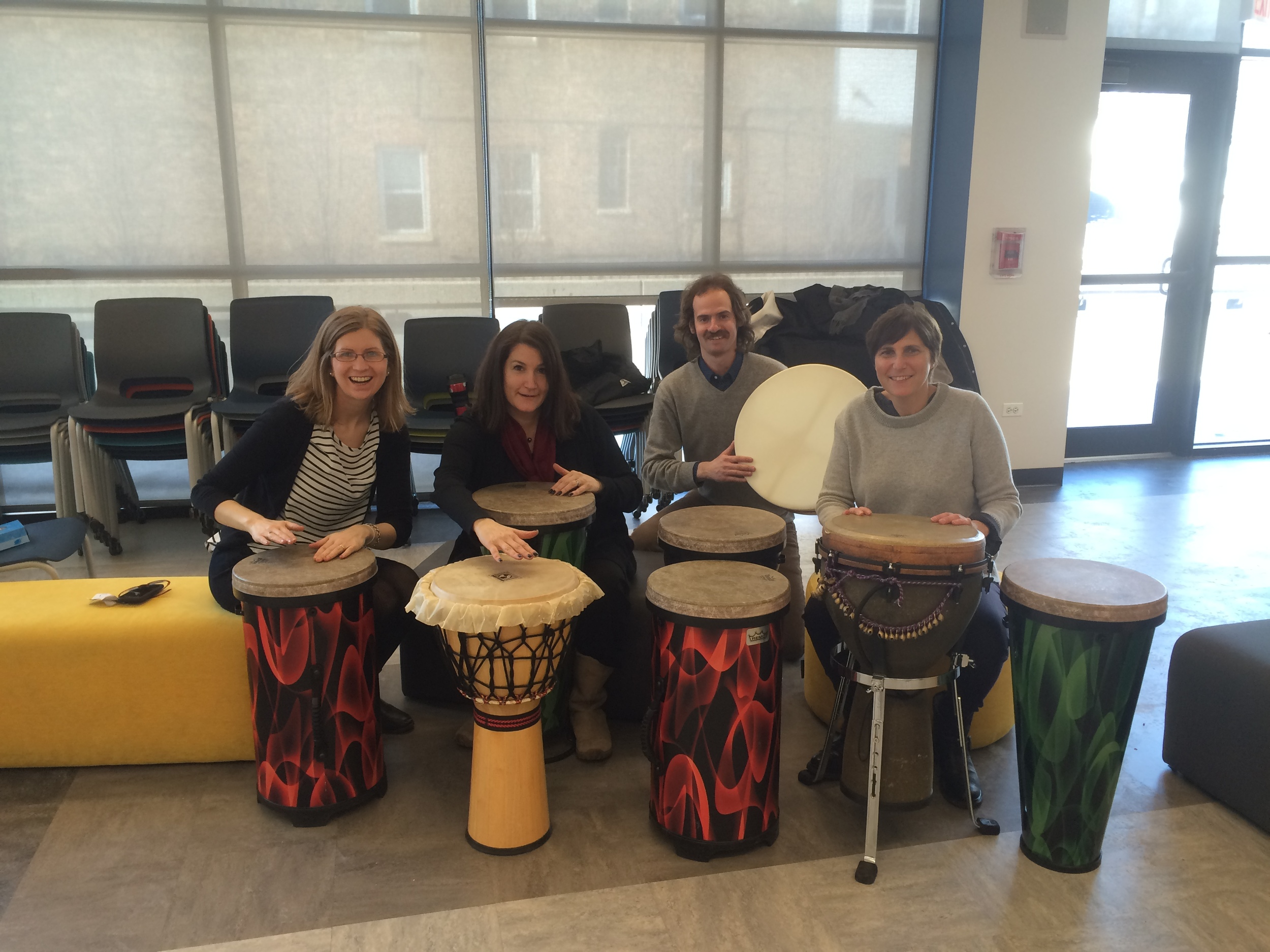 Wonderful Life Rhythms Workshop at the  Wolcott School  of Chicago February 10th 2015 !!!  Such an incredible Staff !!!