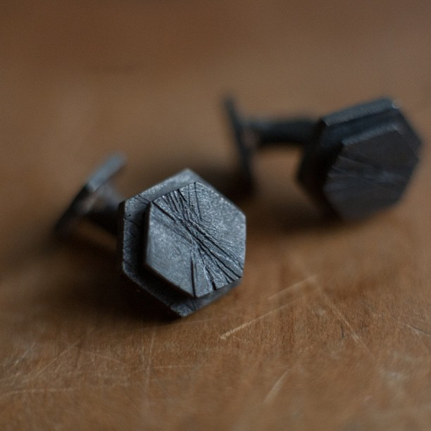 Personalized Cuff-links for a Groomsmen
