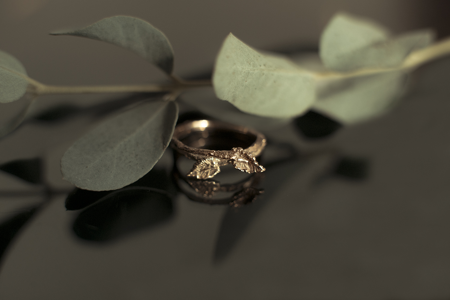 yellow and rose gold bridal ring