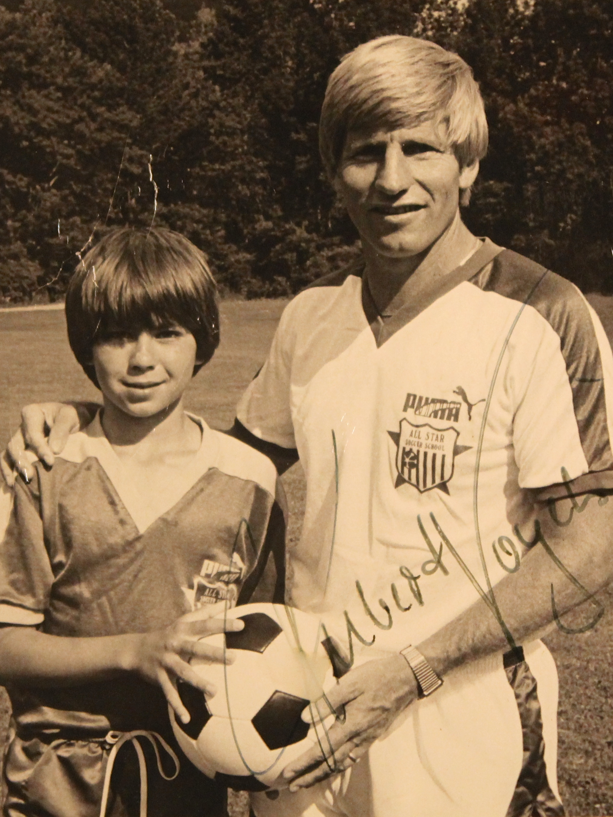 Hubert Vogelsinger  (with Michael age 12)  1938 - present Professional soccer coach