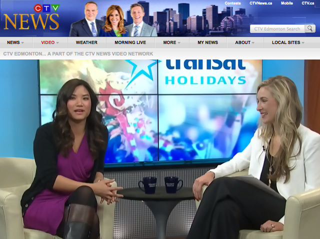 TV Interview  -  CTV Morning Live, Edmonton  November, 2013 Trip Styler's editor flew to Edmonton in partnership with  Transat Holidays  to talk about the best ways to add some culture to your beach getaway this winter.