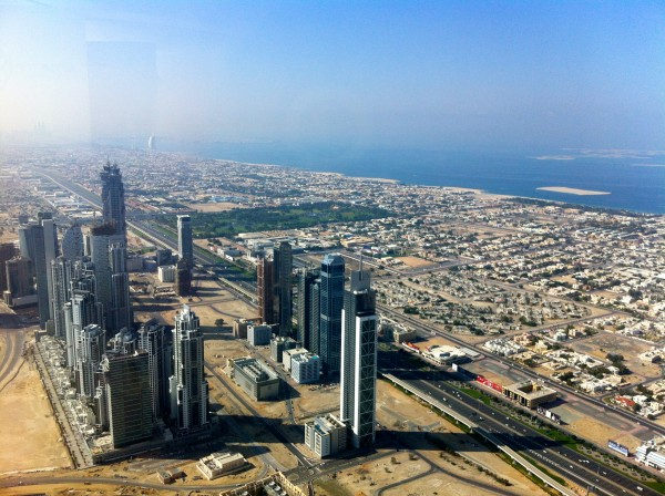 gulf coast from burj khalifa