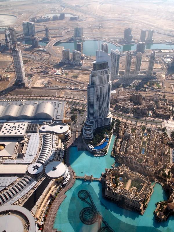 mall from burj khalifa