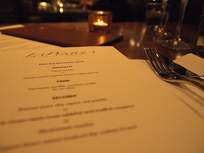 la pentola dine out vancouver menu