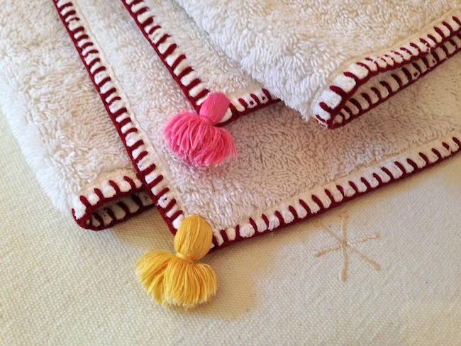 embroidery detail linens la gazelle d'or