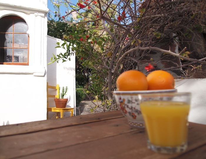 orange juice breakfast korakia