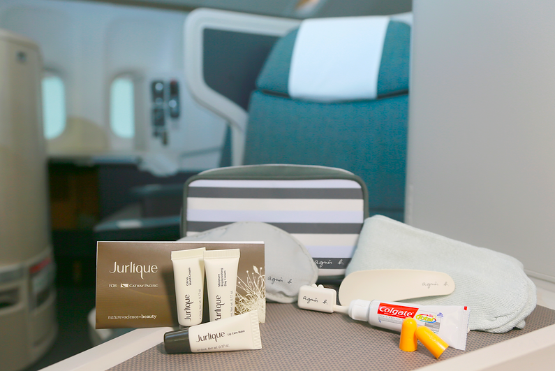 Personal amenity kit by agnes b. with products from Jurlique