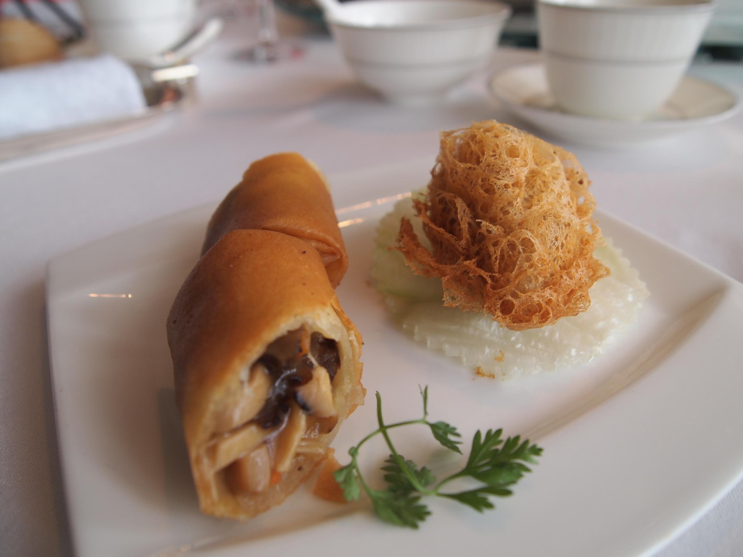 Dim sum in Lung King Heen, the world's first three Michelin star restaurant
