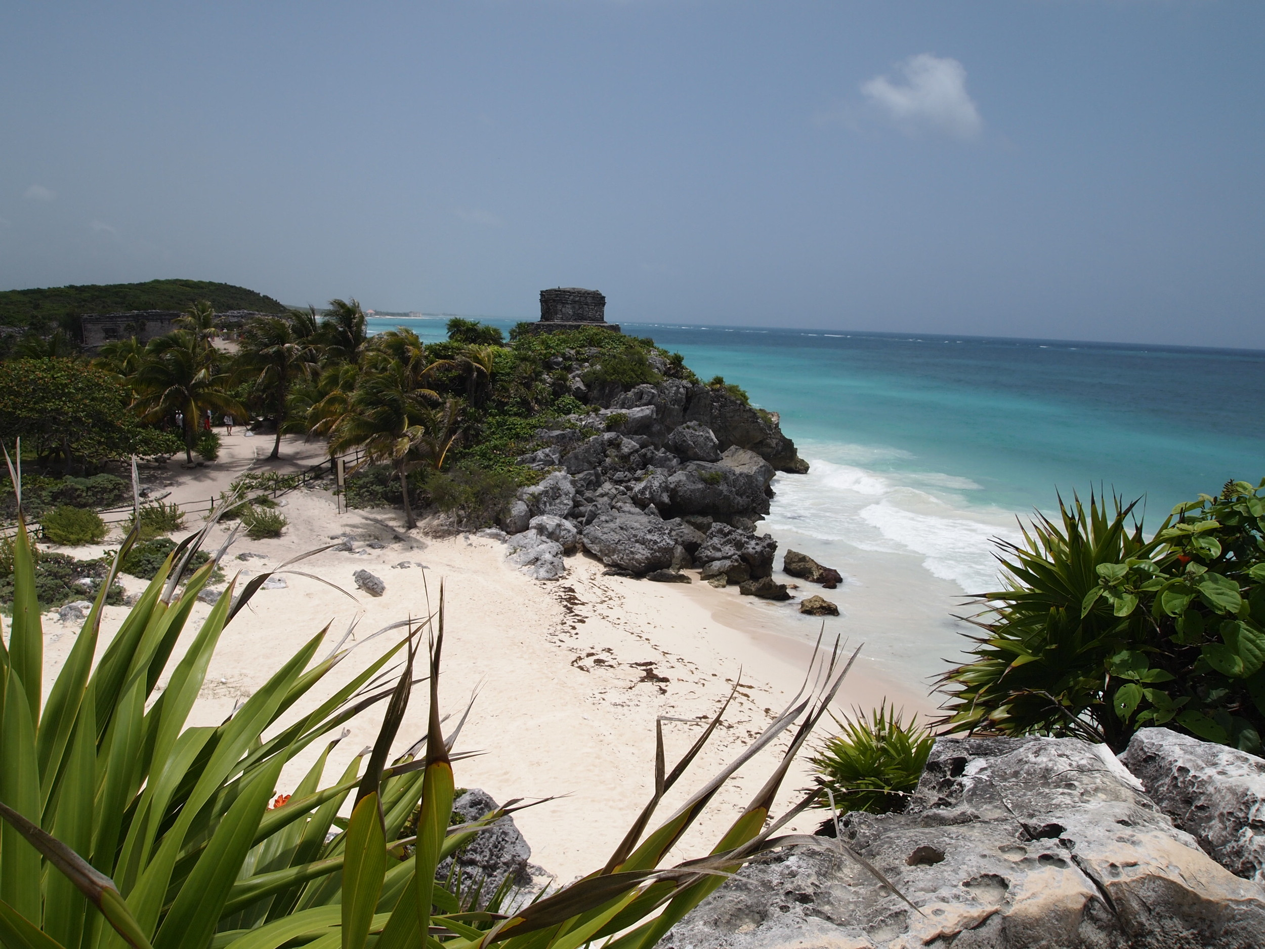 Tulum Ruins, about 3km from the hotel zone {entry cost: 59 Pesos which can ONLY be paid in cash}