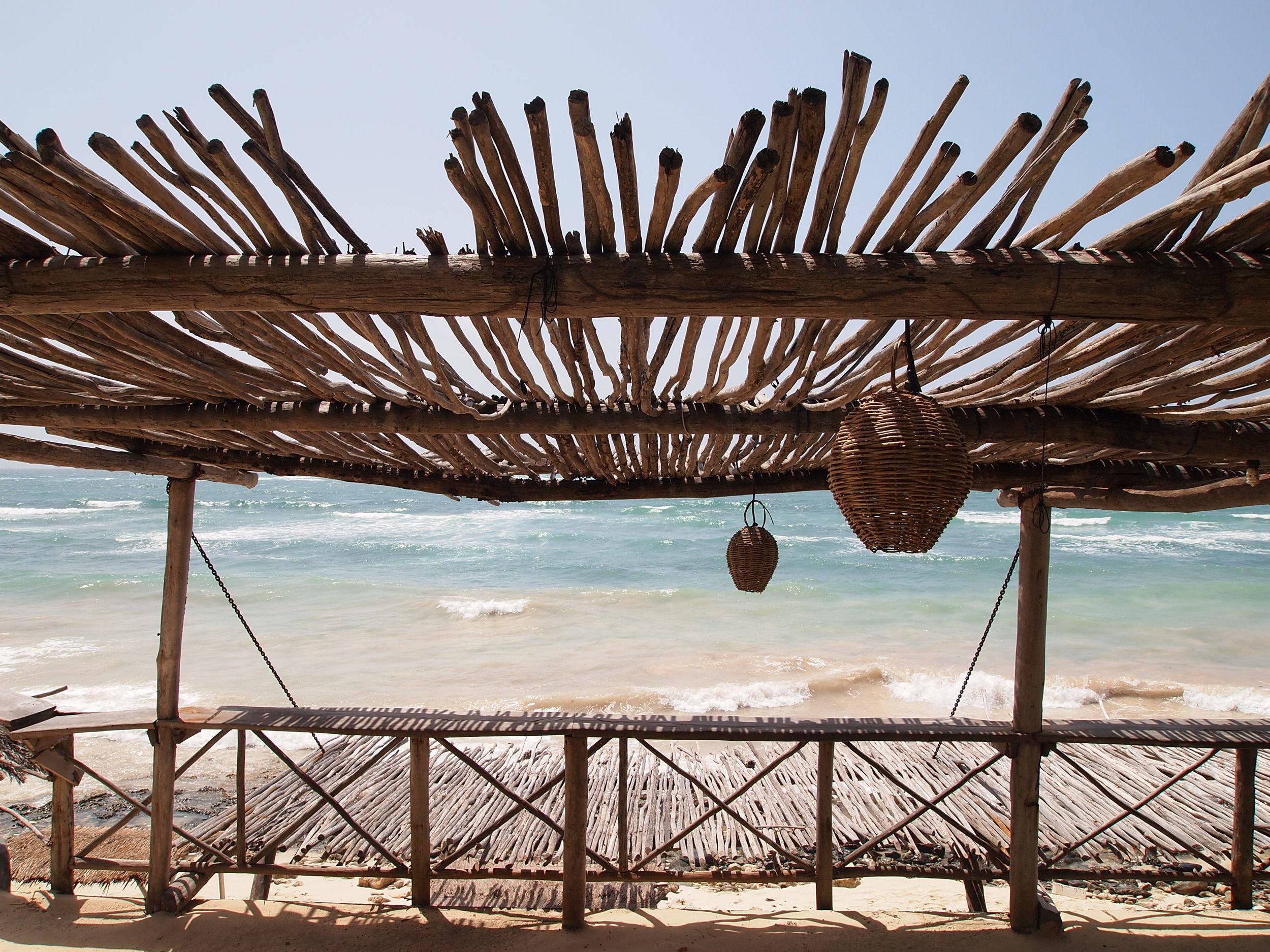 Cool beach bar-in-the-making