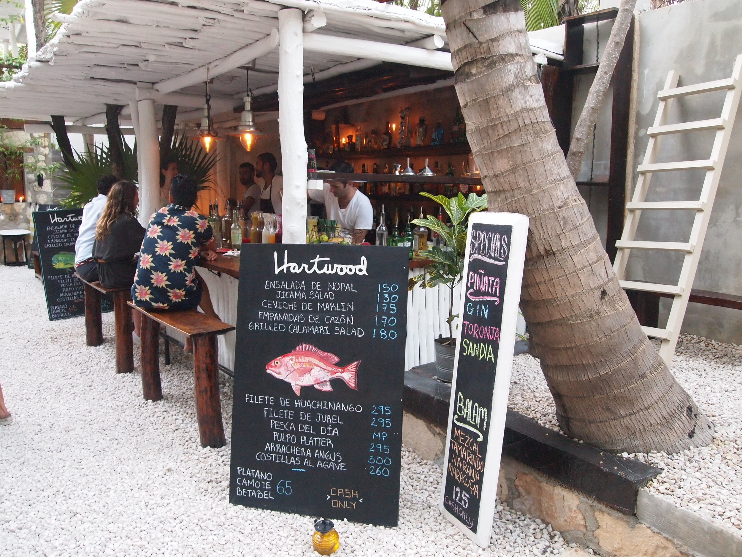 Hartwood , one of my Tulum restaurant muses