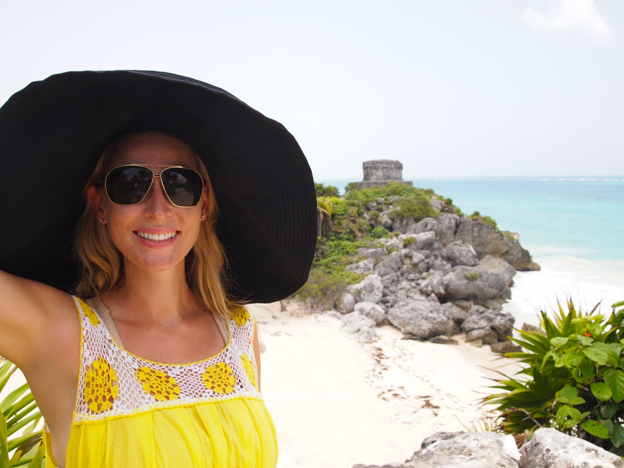 Trip stylin' at the Ruins {complete with a beach for swimming/cooling off}