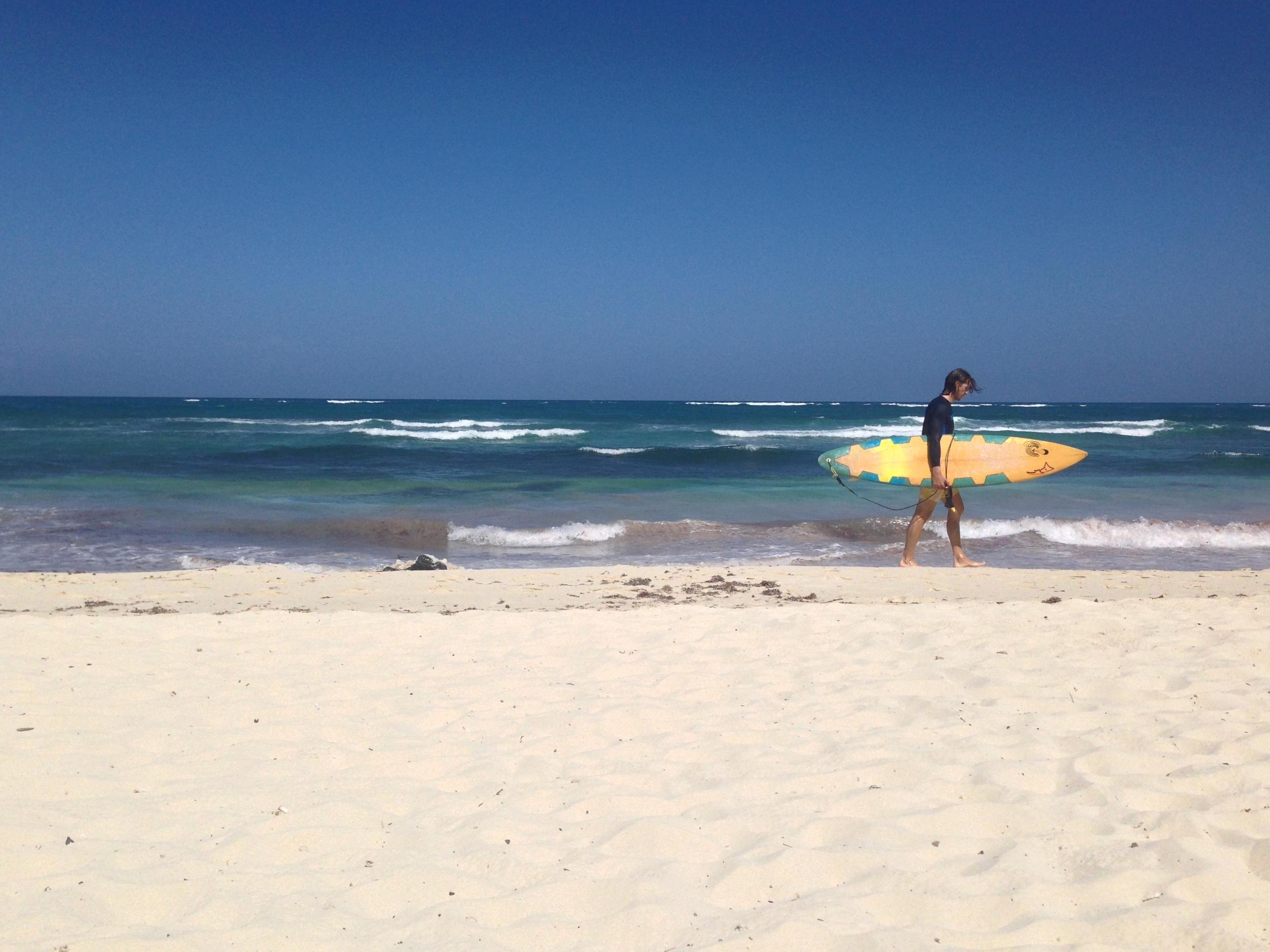 Mr. Trip Styler post-surf