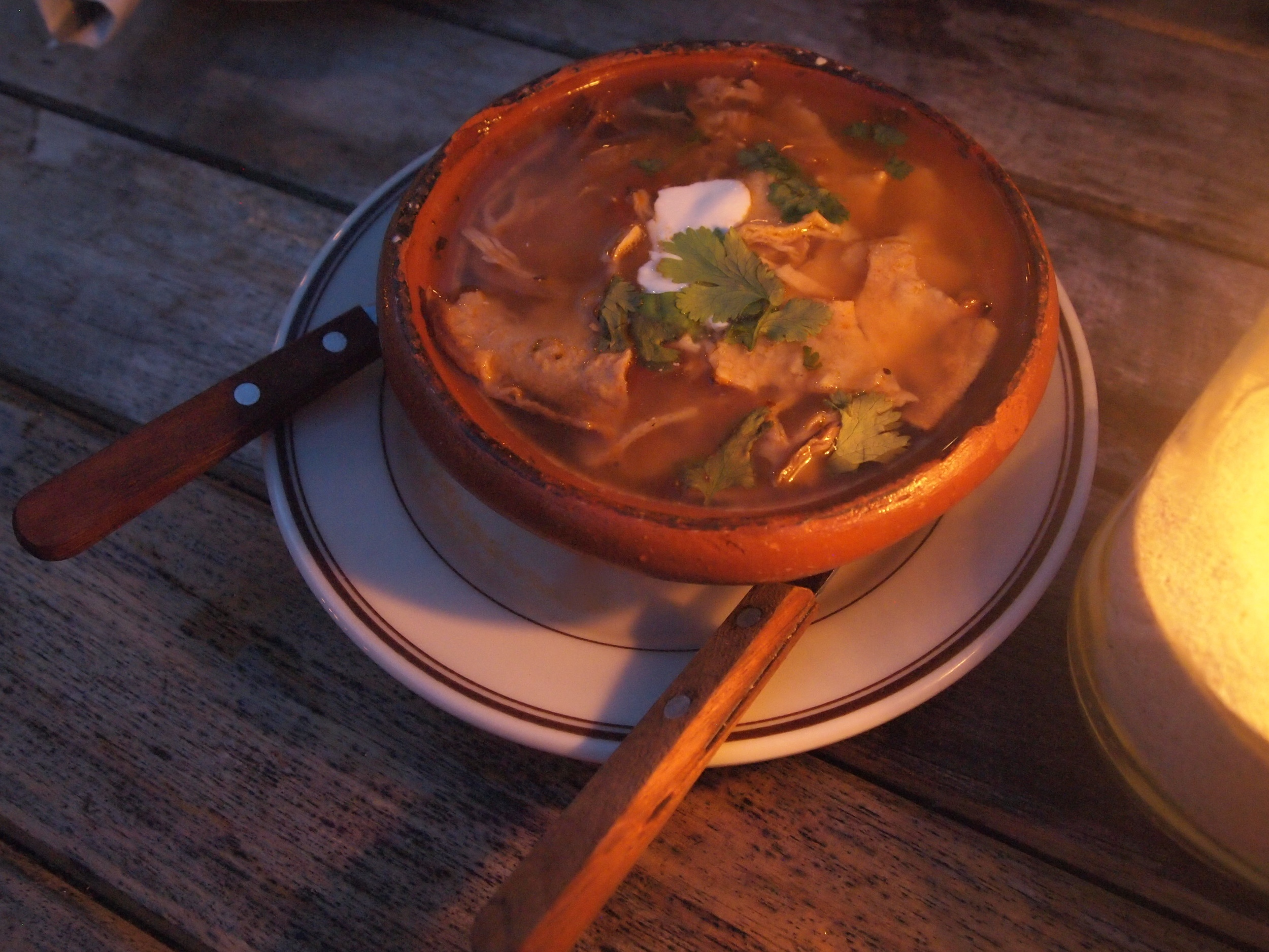 The food: Tortilla soup