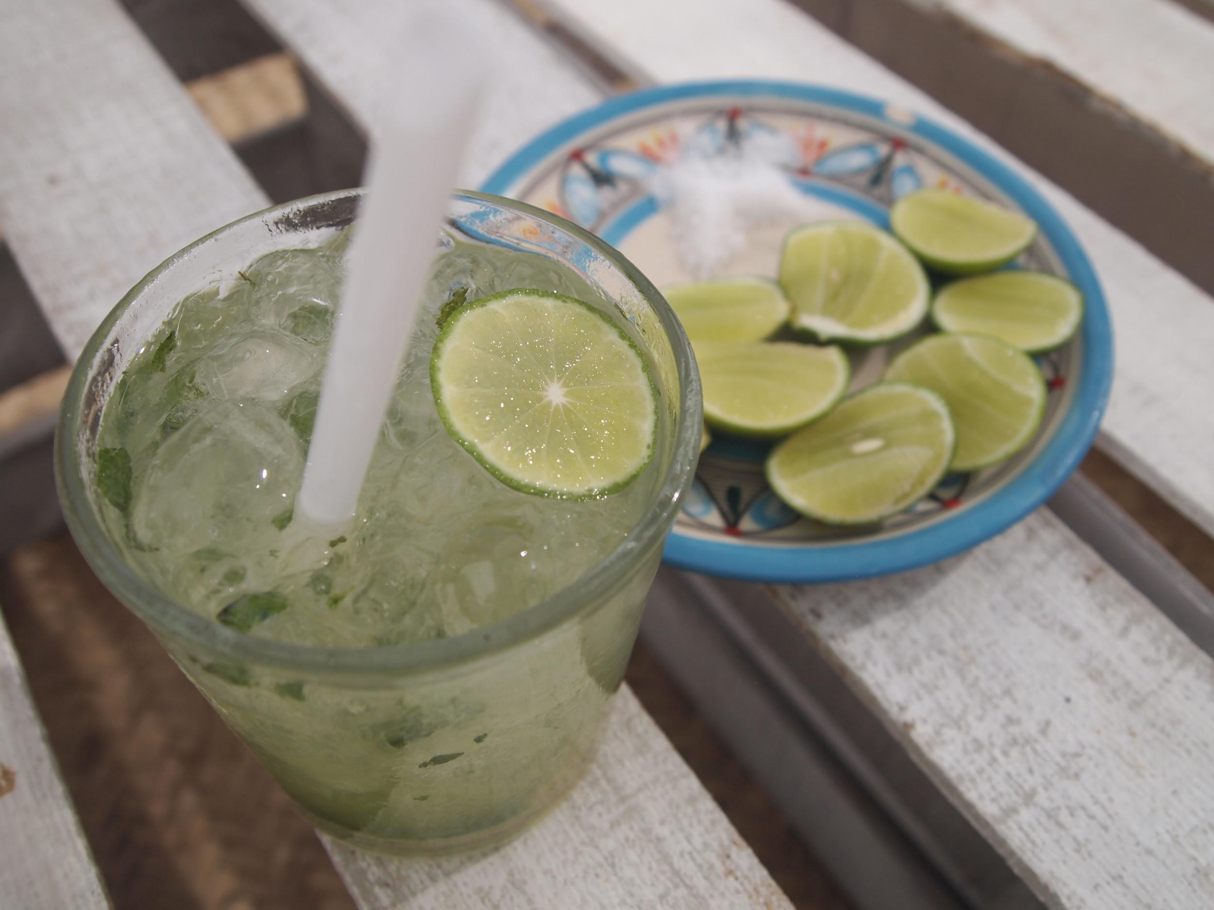 Huatulco. Sundowner drinks at Maguey beach.