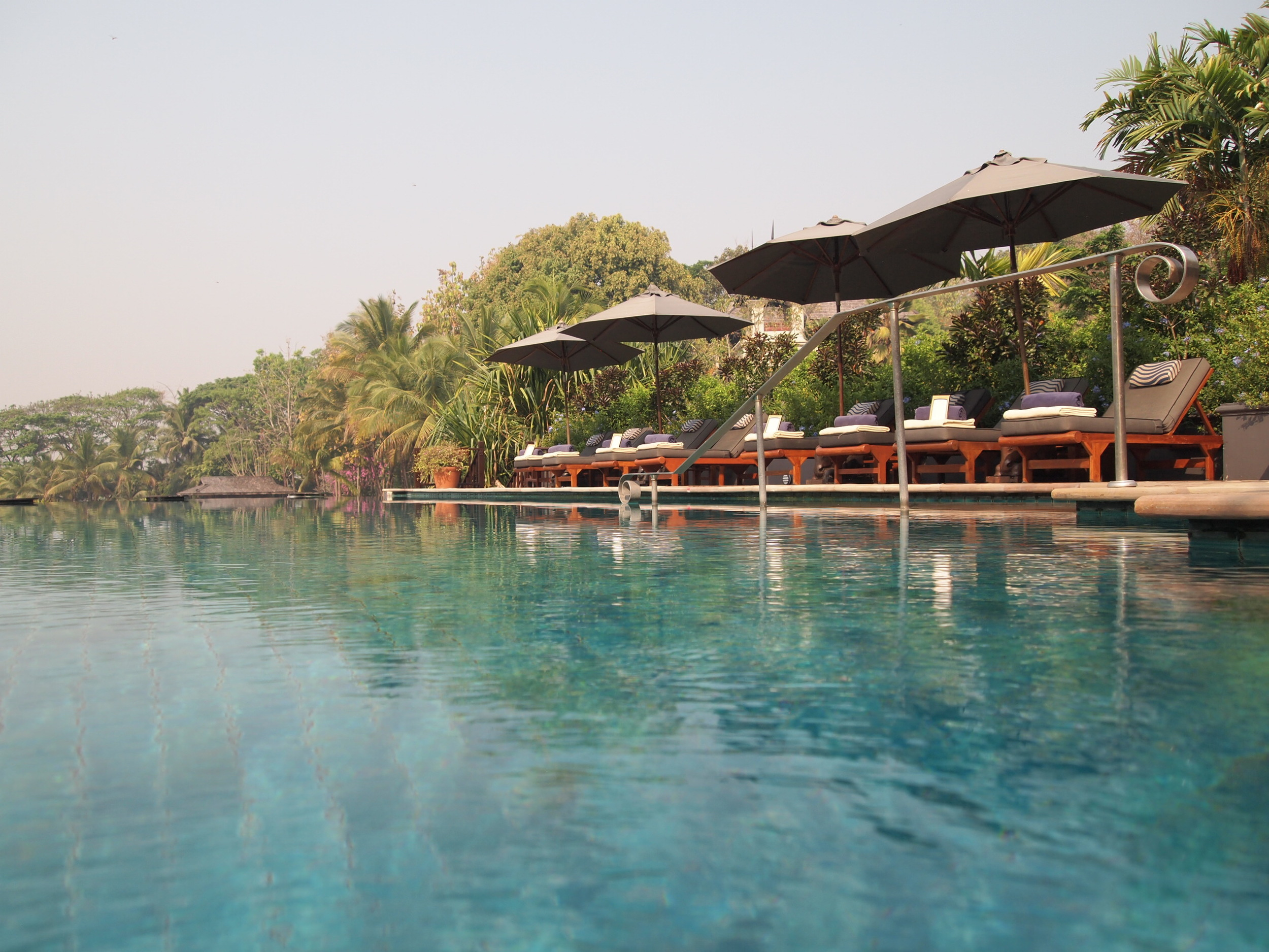 Thailand. The Four Seasons Resort Chiang Mai's main pool.