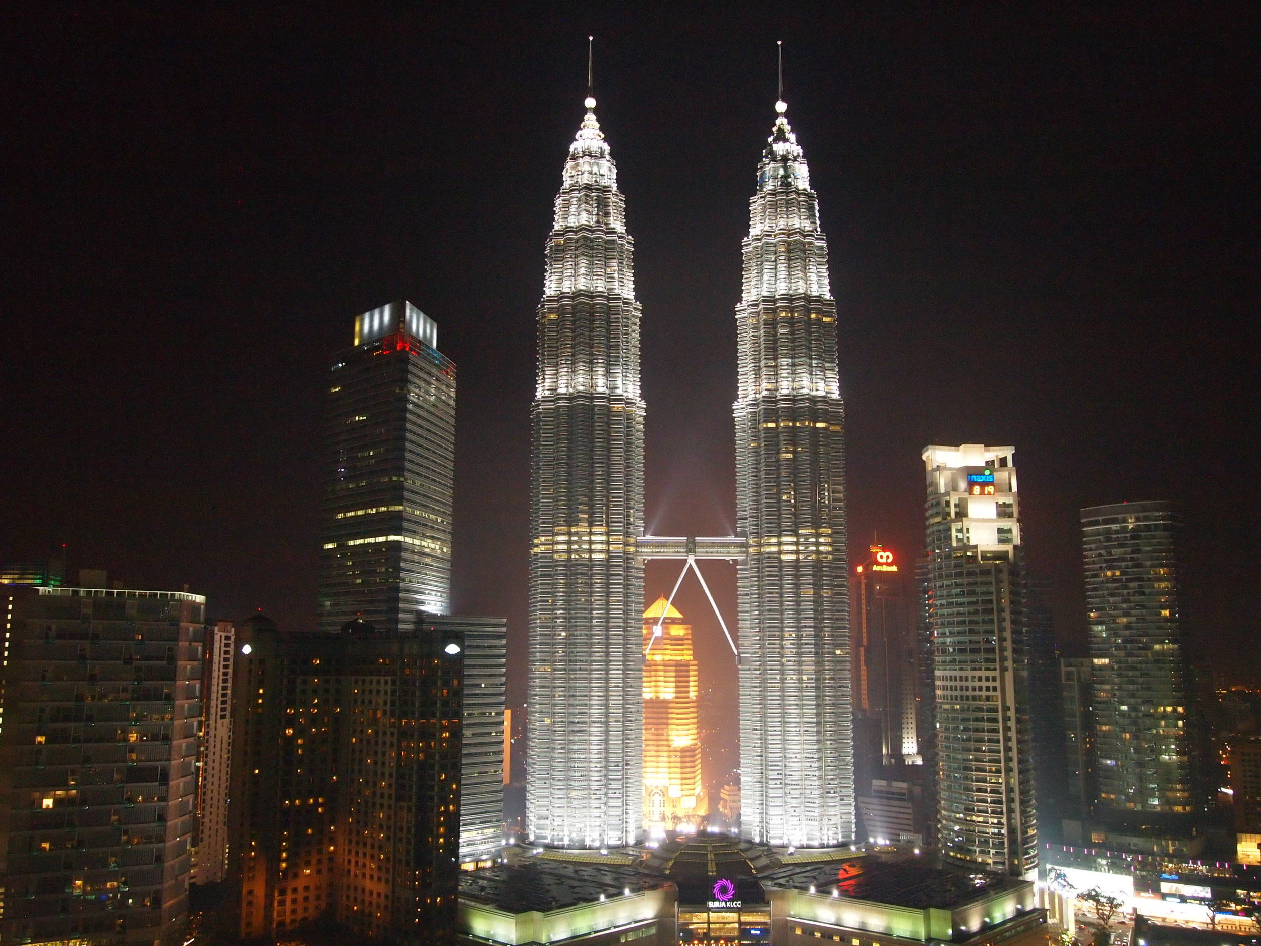 Kuala Lumpur. Petronas Towers. Bonus points if you remember them featured in the movie Entrapment!