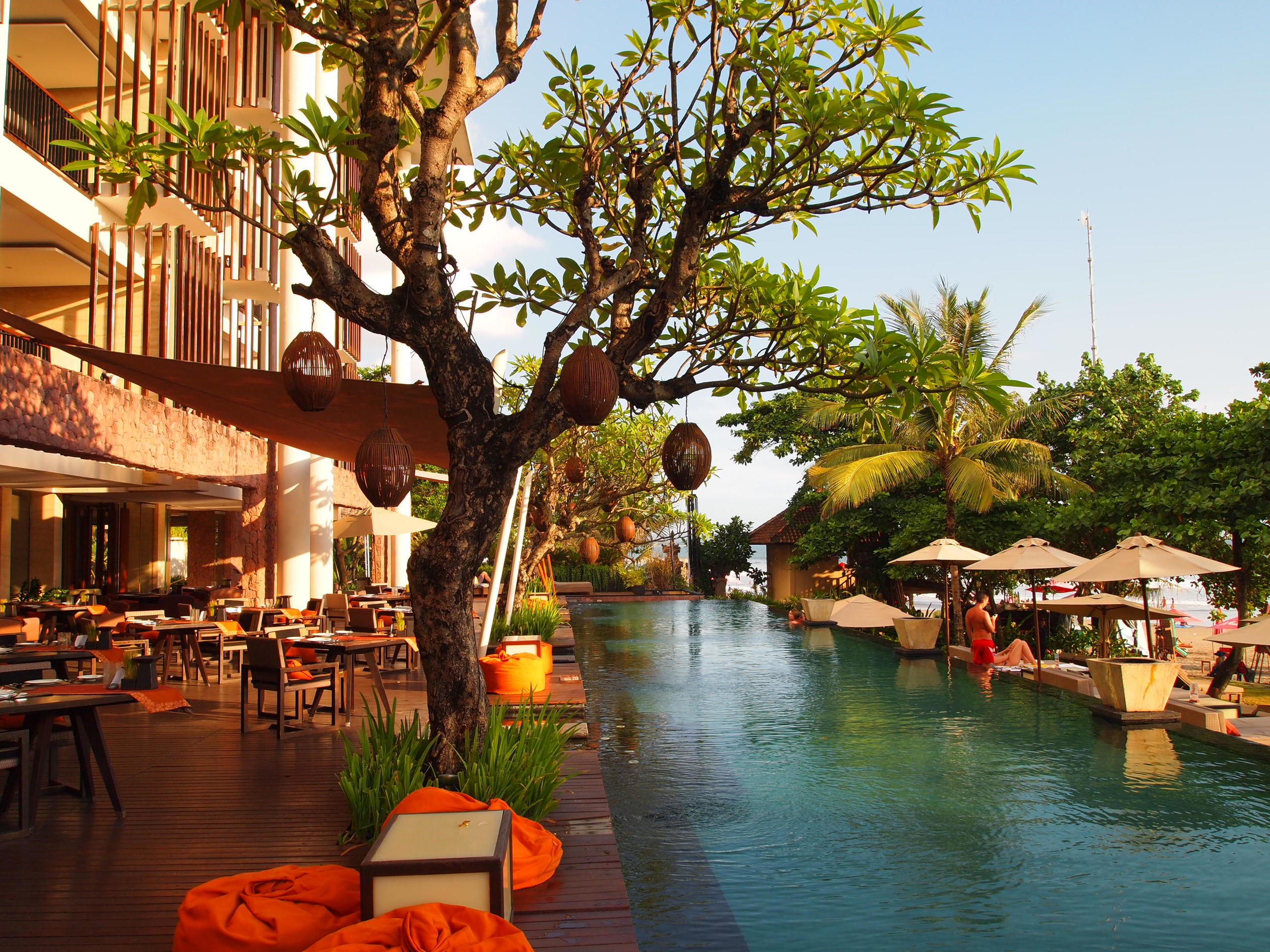 Bali. Scoping out the  best beach hotels in Bali . Pictured here, one of my beachside stays, the Anantara Hotel Seminyak.