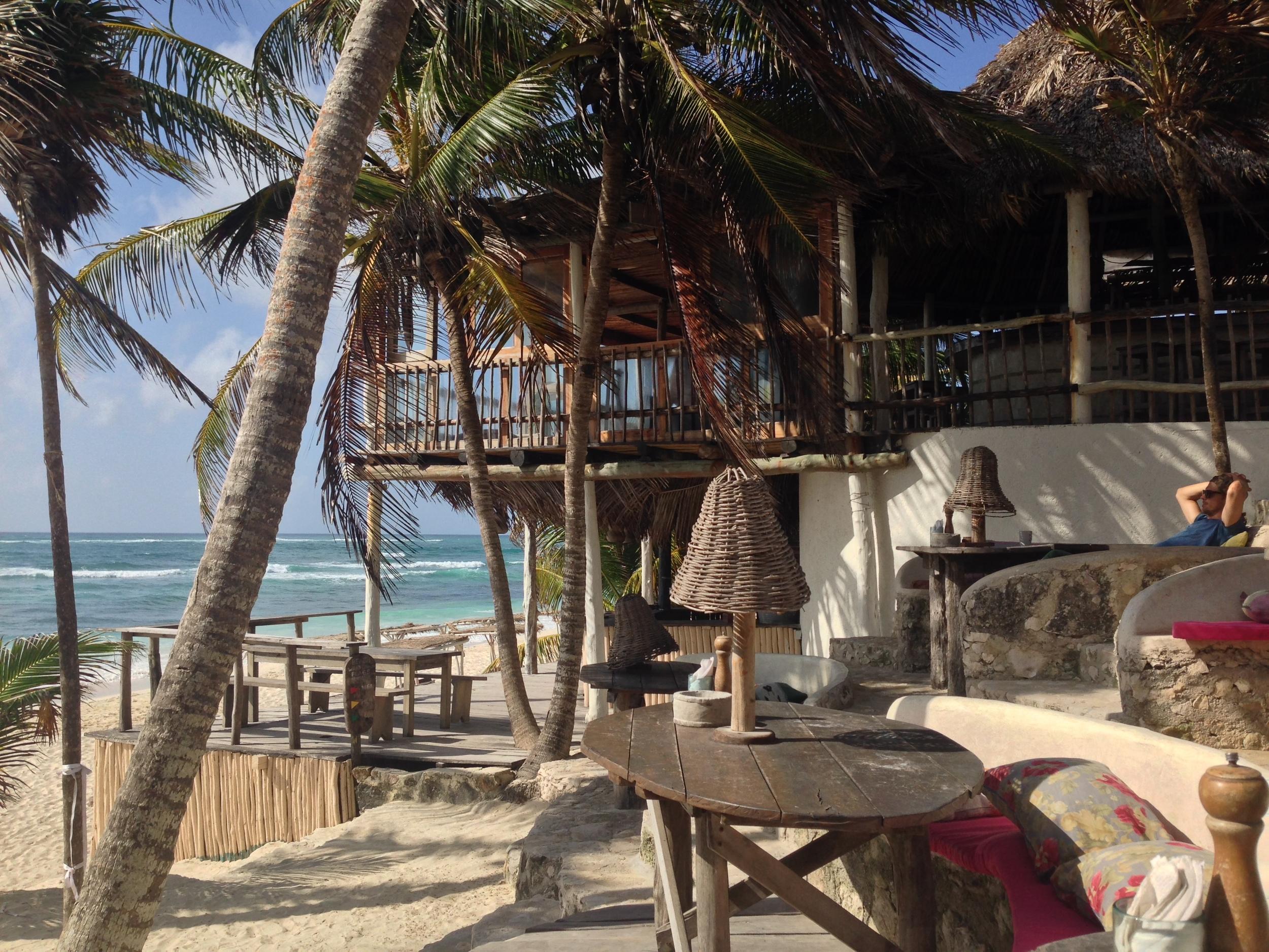 Mexico. Beach vibes at Papaya Playa Project.