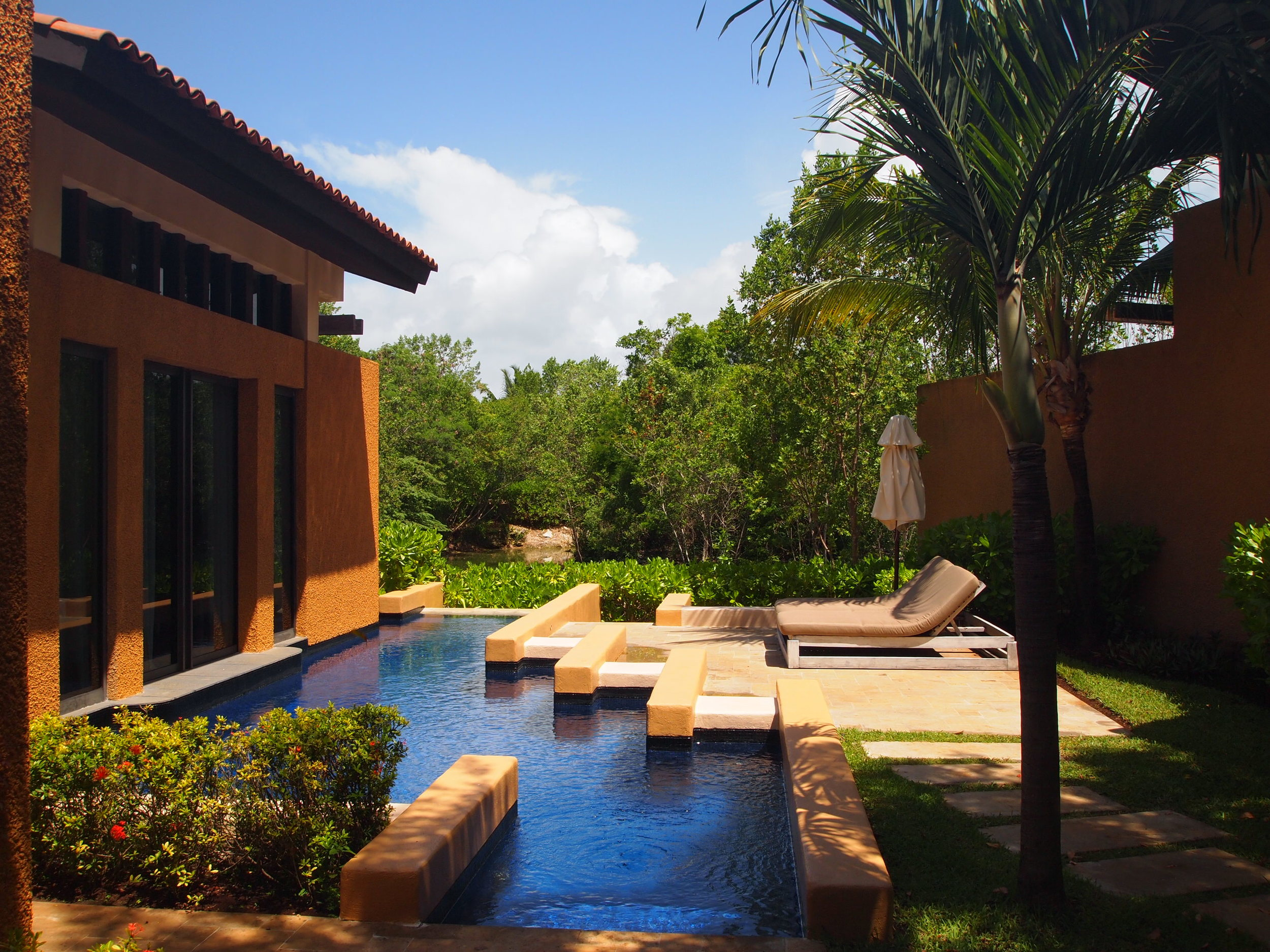 Mexico. Every suite comes with a personal plunge pool at the Banyan Tree Mayakoba.