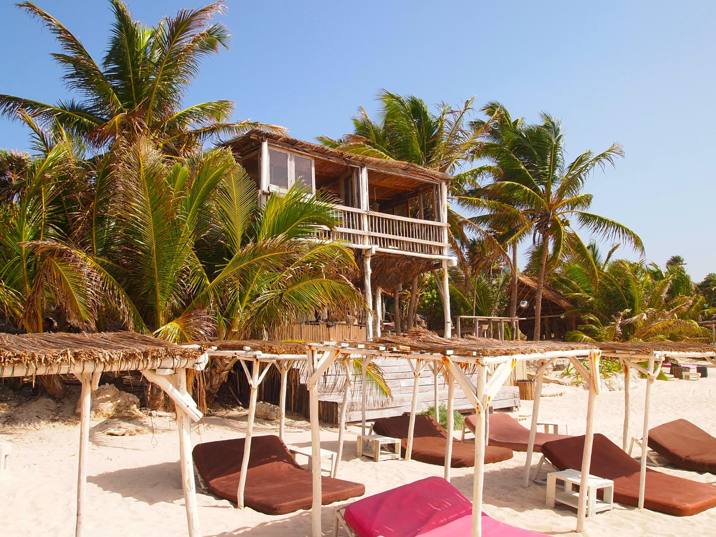 Mexico. Beach club at Papaya Playa Project.